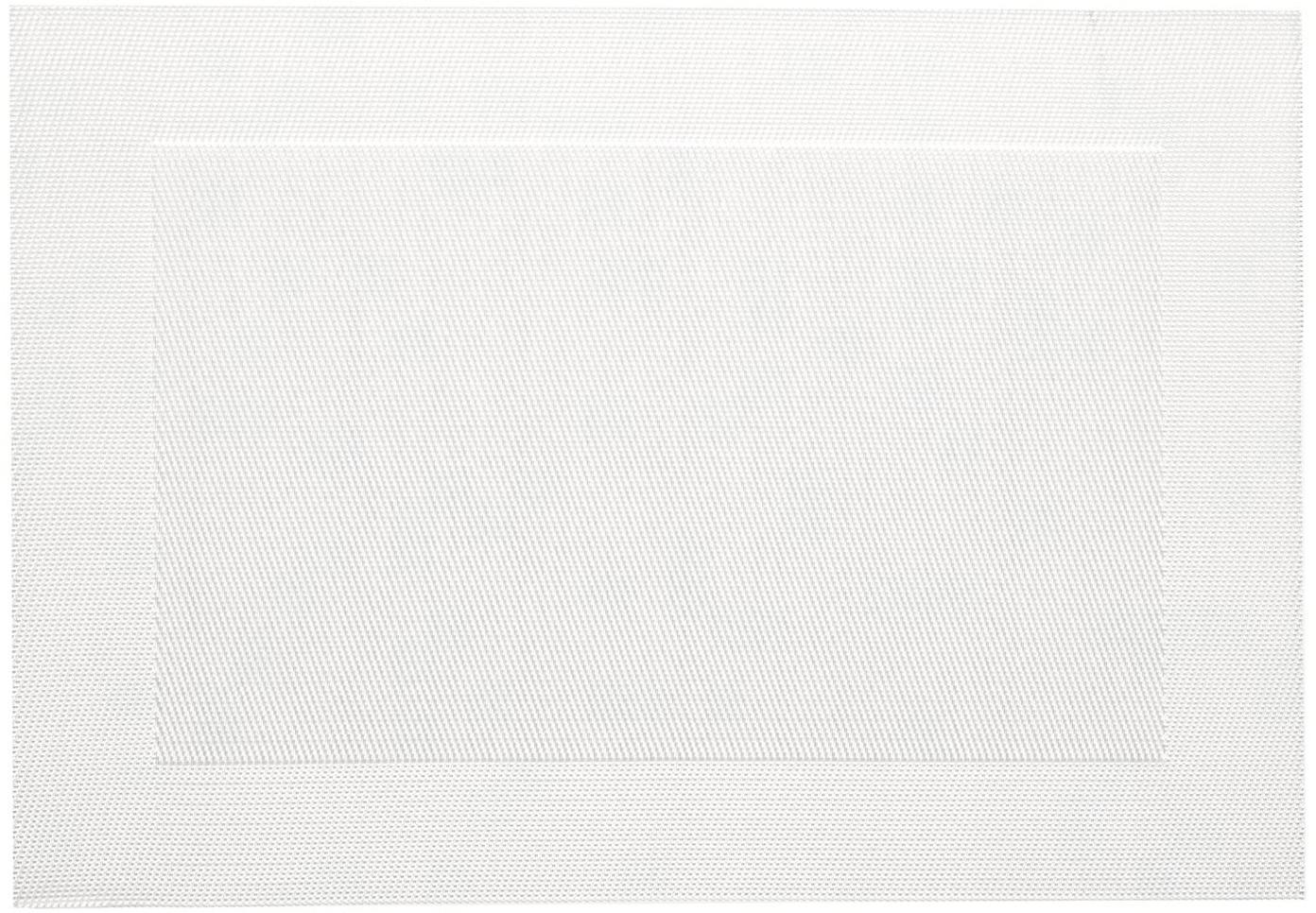 Manteles individuales de plástico Modern, 2uds., Plástico, Color nácar, An 33 x L 46 cm