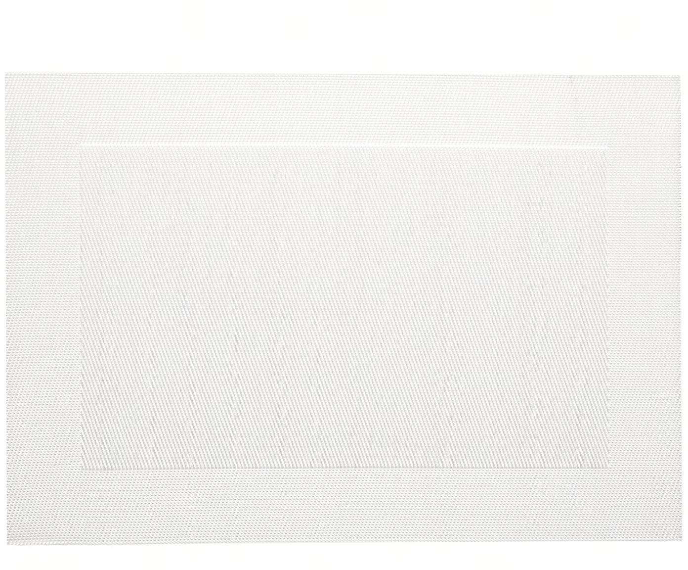 Kunststof placemat Modern, 2 stuks, Kunststof, Parelmoer, 33 x 46 cm