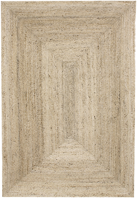 Handgemaakt juten vloerkleed Sharmila, Bovenzijde: jute, Onderzijde: jute, Beige, 120 x 180 cm
