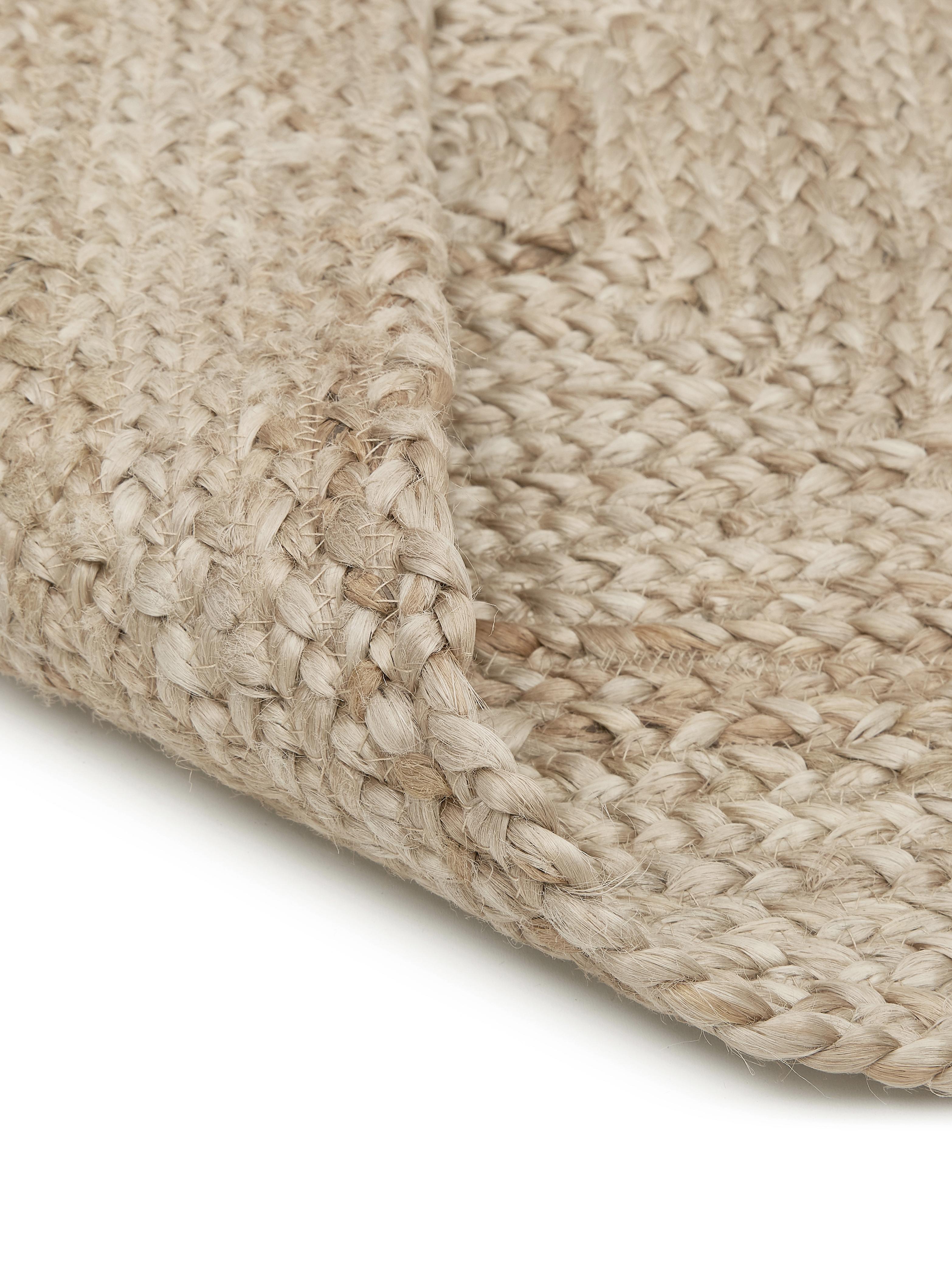 Ręcznie tkany dywan z juty Sharmila, Beżowy, S 120 x D 180 cm (Rozmiar S)