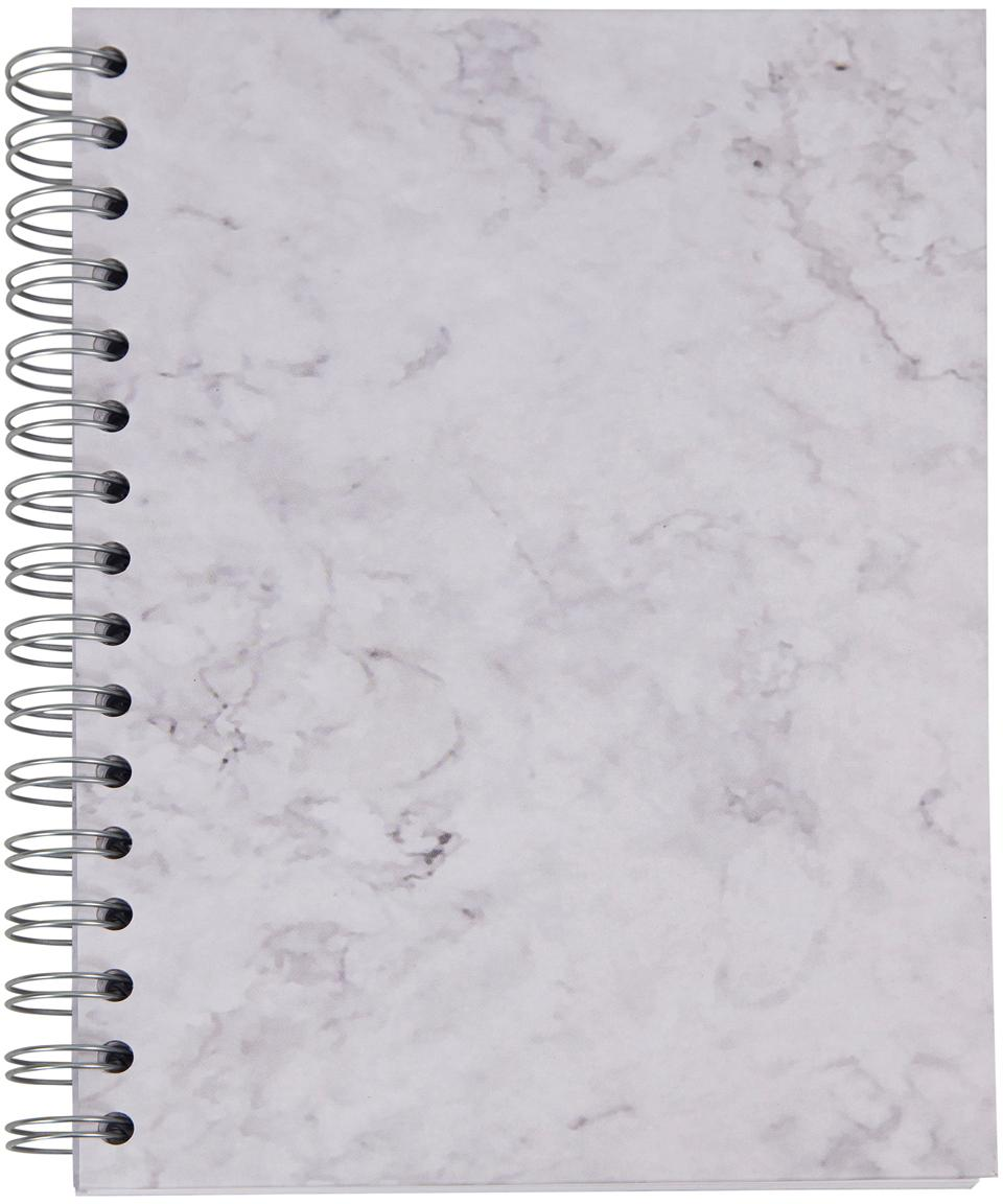 Notizbuch Bürli, Weiss, marmoriert, 16 x 21 cm
