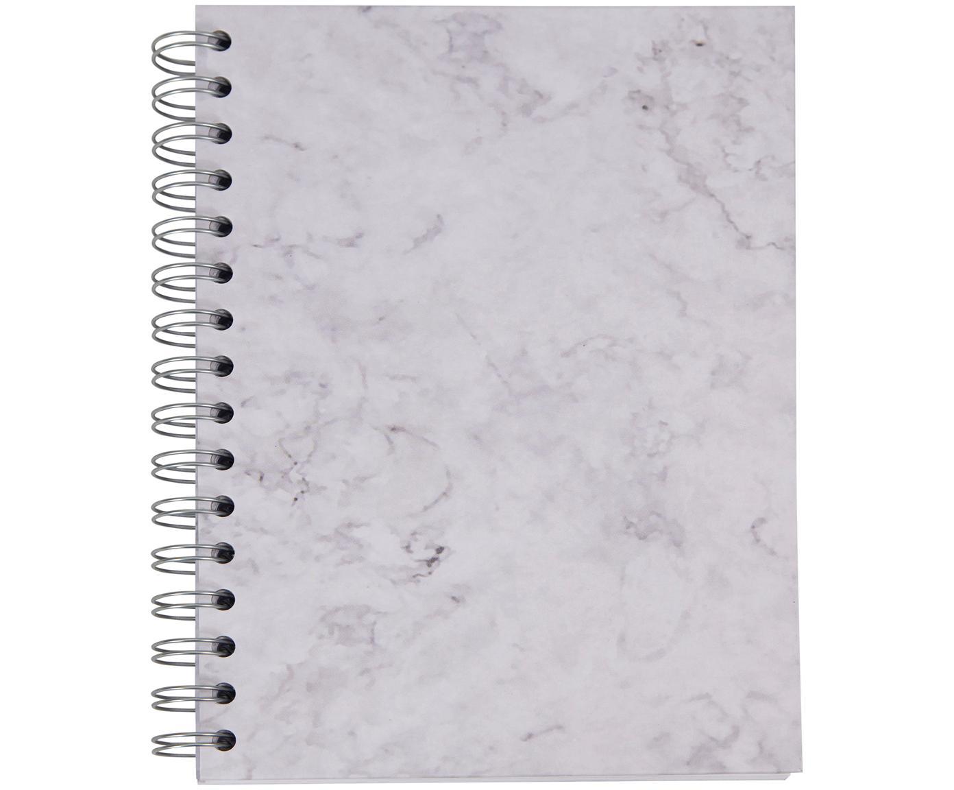 Quaderno a spirale Bürli, Bianco, marmorizzato, L 16 x A 21 cm