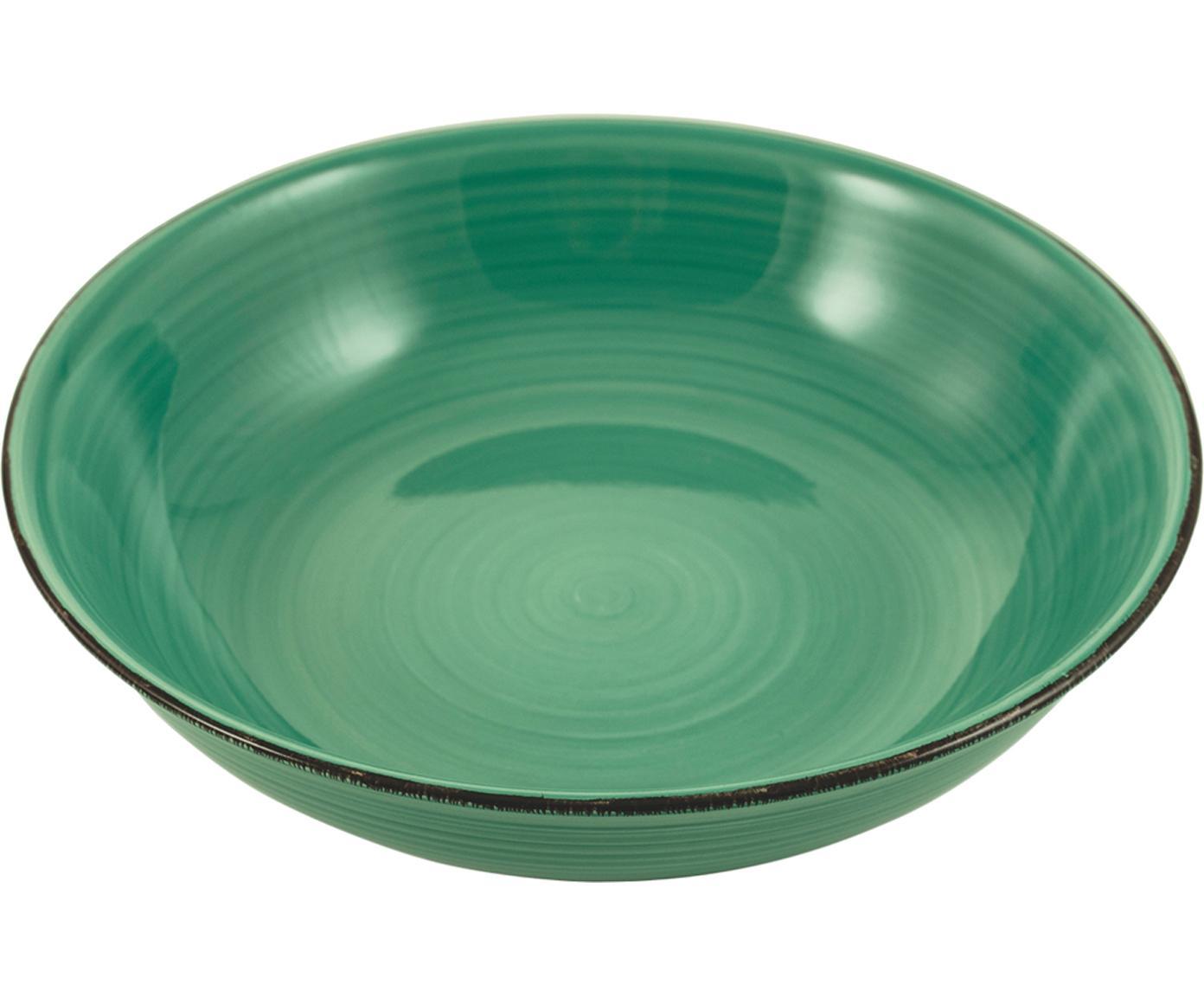Serveerschalen Baita, Keramiek, Turquoise, Ø 29 x H 7 cm