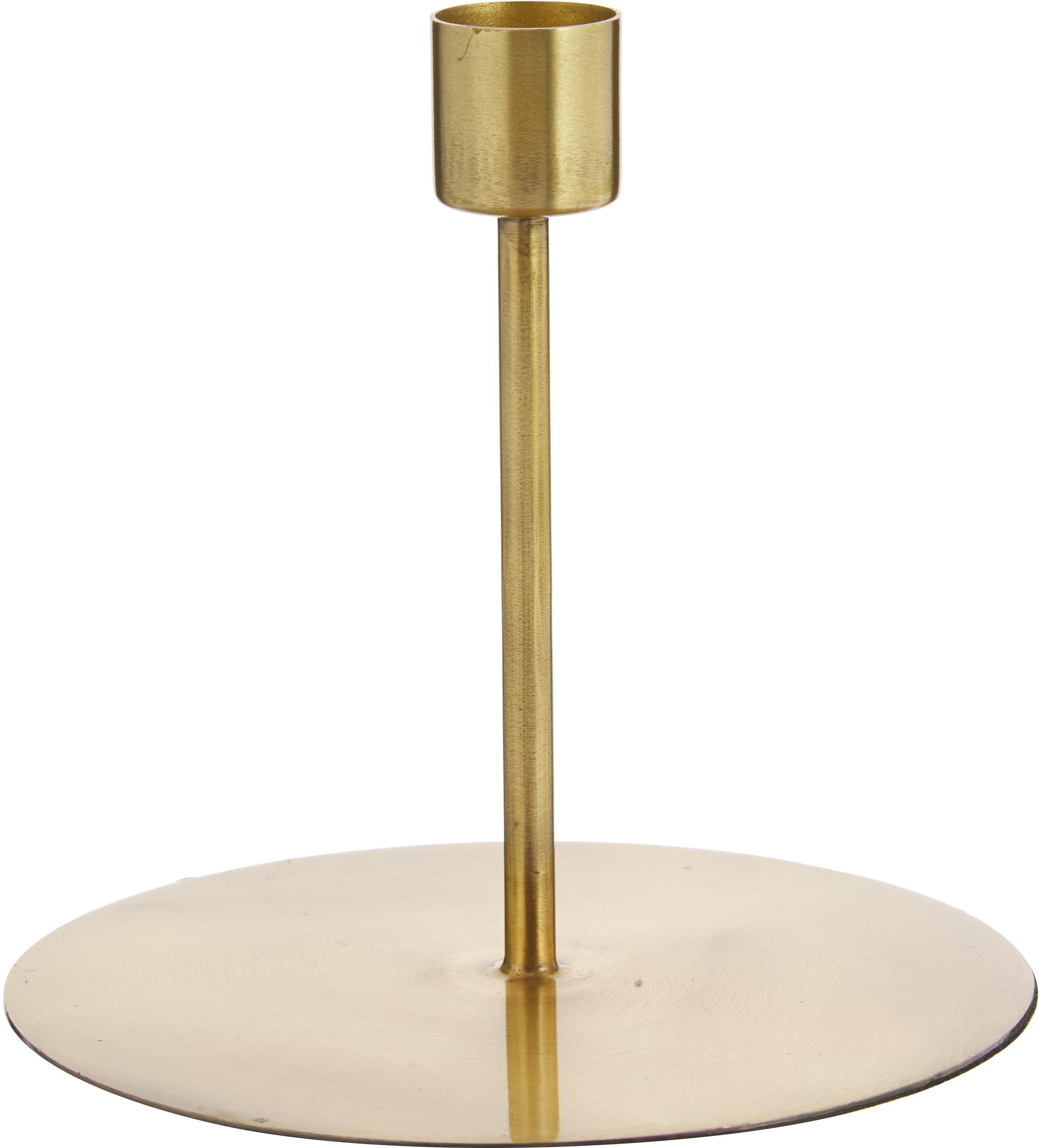 Kerzenhalter Anit, Metall, beschichtet, Messingfarben, Ø 13 x H 12 cm