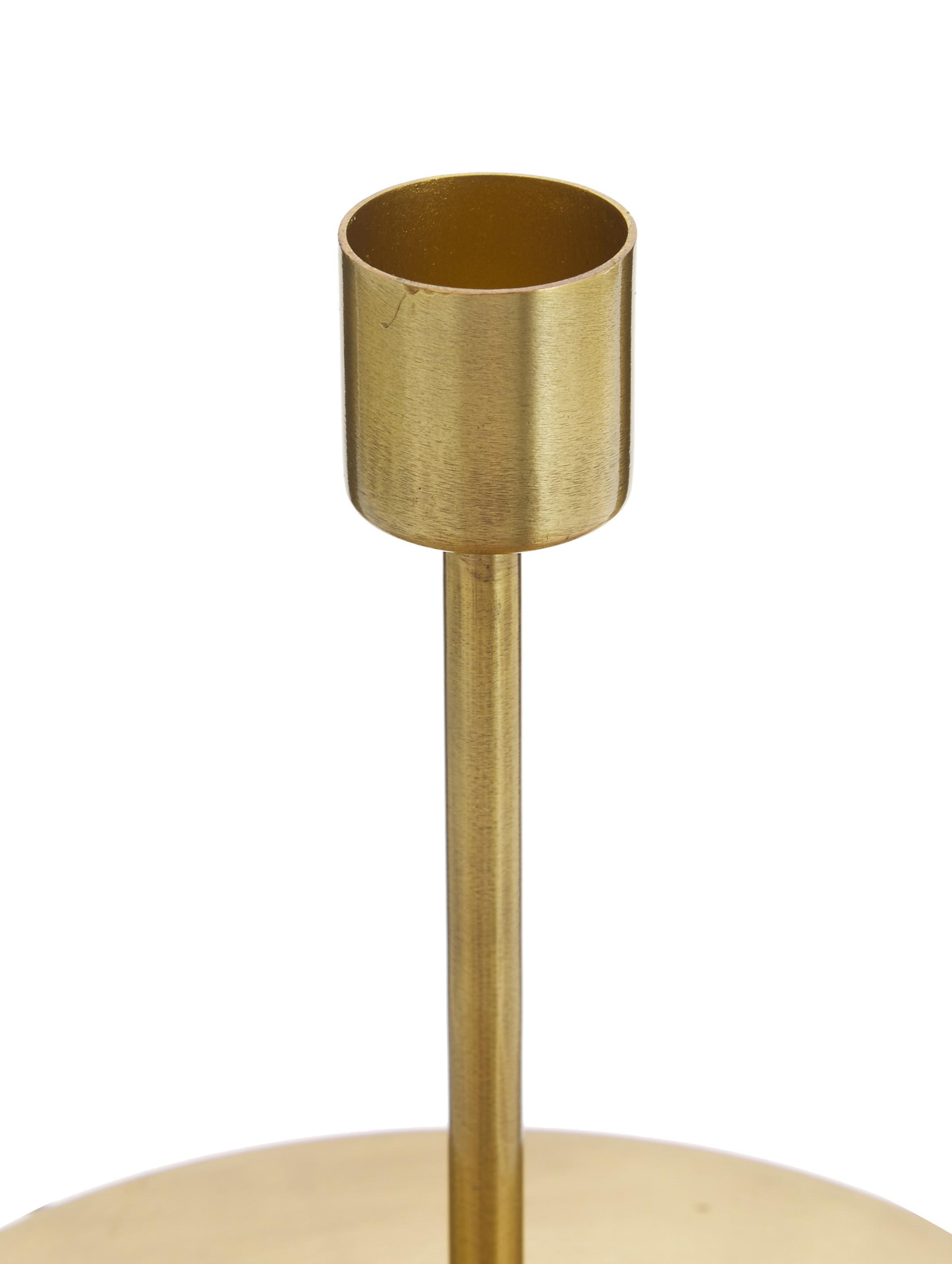 Candelabro Anit, Metal, recubierto, Latón, Ø 13 x Al 12 cm