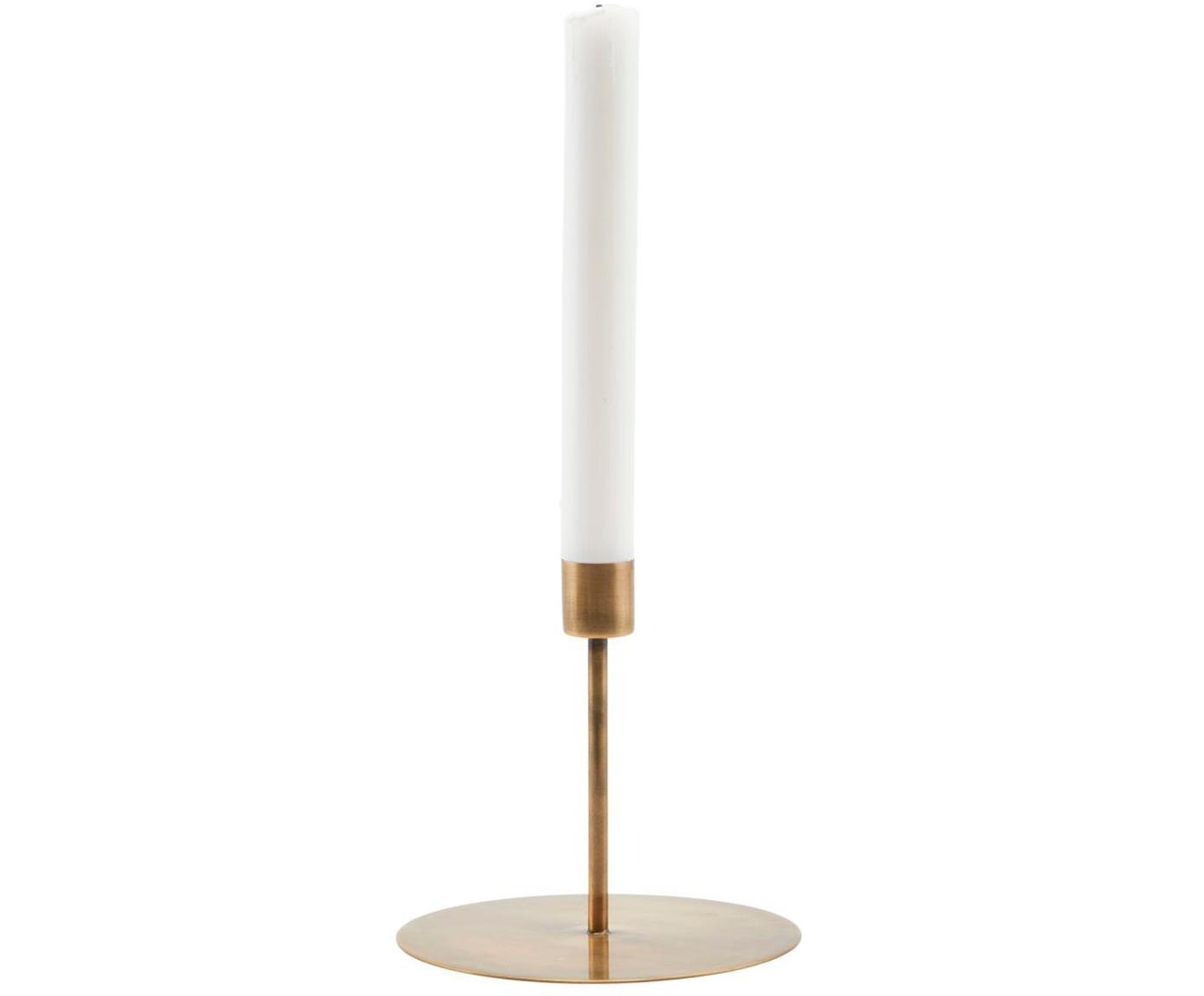 Kandelaar Anit, Gecoat metaal, Messingkleurig, Ø 13 x H 12 cm