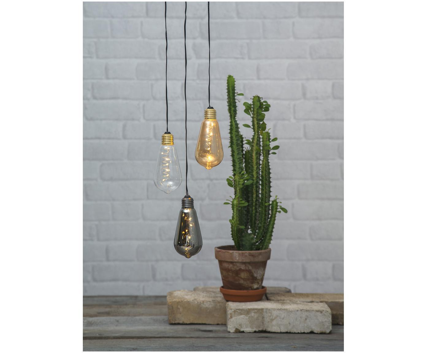 Lampes déco ampoule nue Glow, 2pièces, Transparent