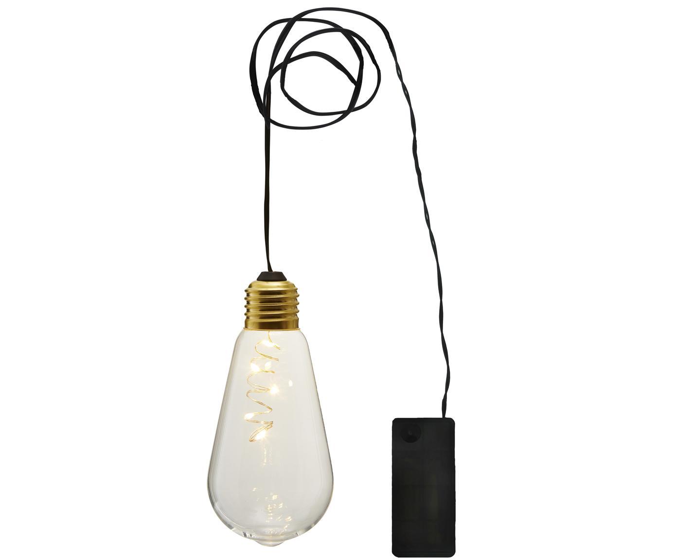 Decoratieve lampen Glow, 2stuks, Lampenkap: glas, Fitting: gecoat metaal, Transparant, Ø 6 x H 13 cm