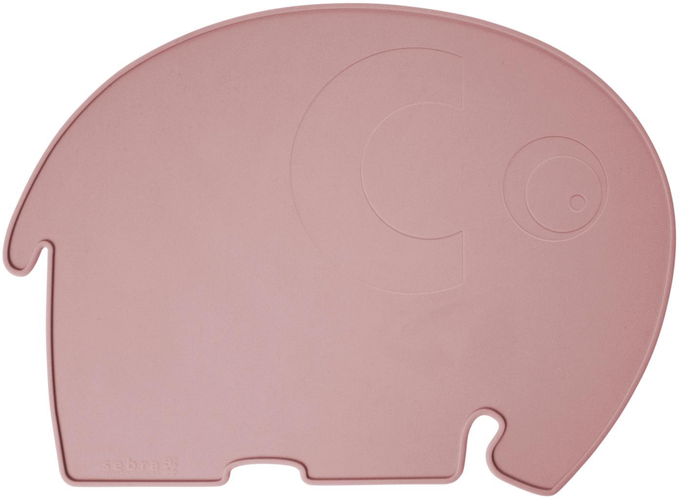 Tovaglietta elefantino in silicone Fanto, Silicone, senza BPA, Rosa, Larg. 43 x Alt. 33 cm