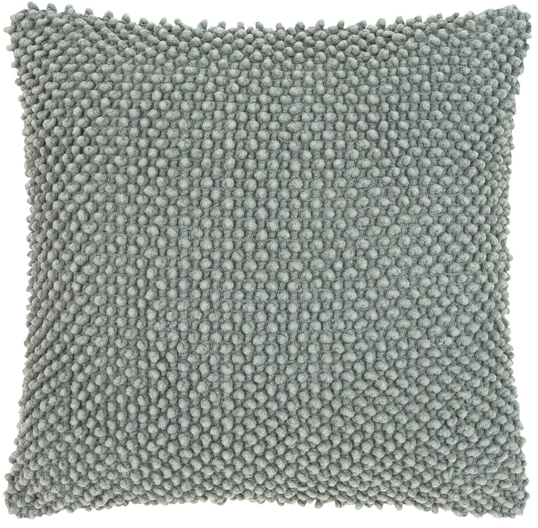 Kussenhoes Indi met zacht gestructureerd oppervlak, 100% katoen, Saliegroen, 45 x 45 cm