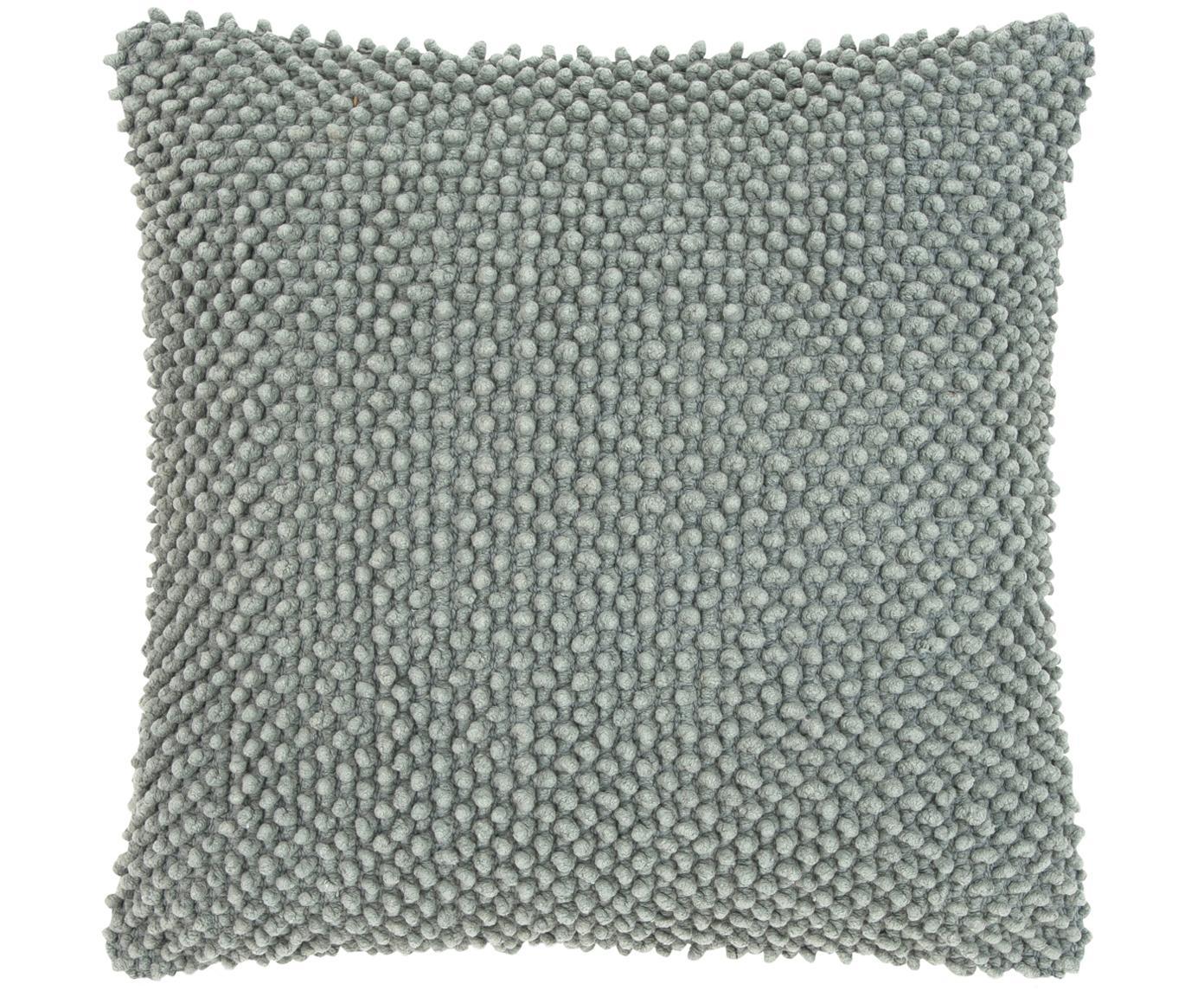 Federa arredo in cotone Indi, 100% cotone, Grigio scuro, Larg. 45 x Lung. 45 cm