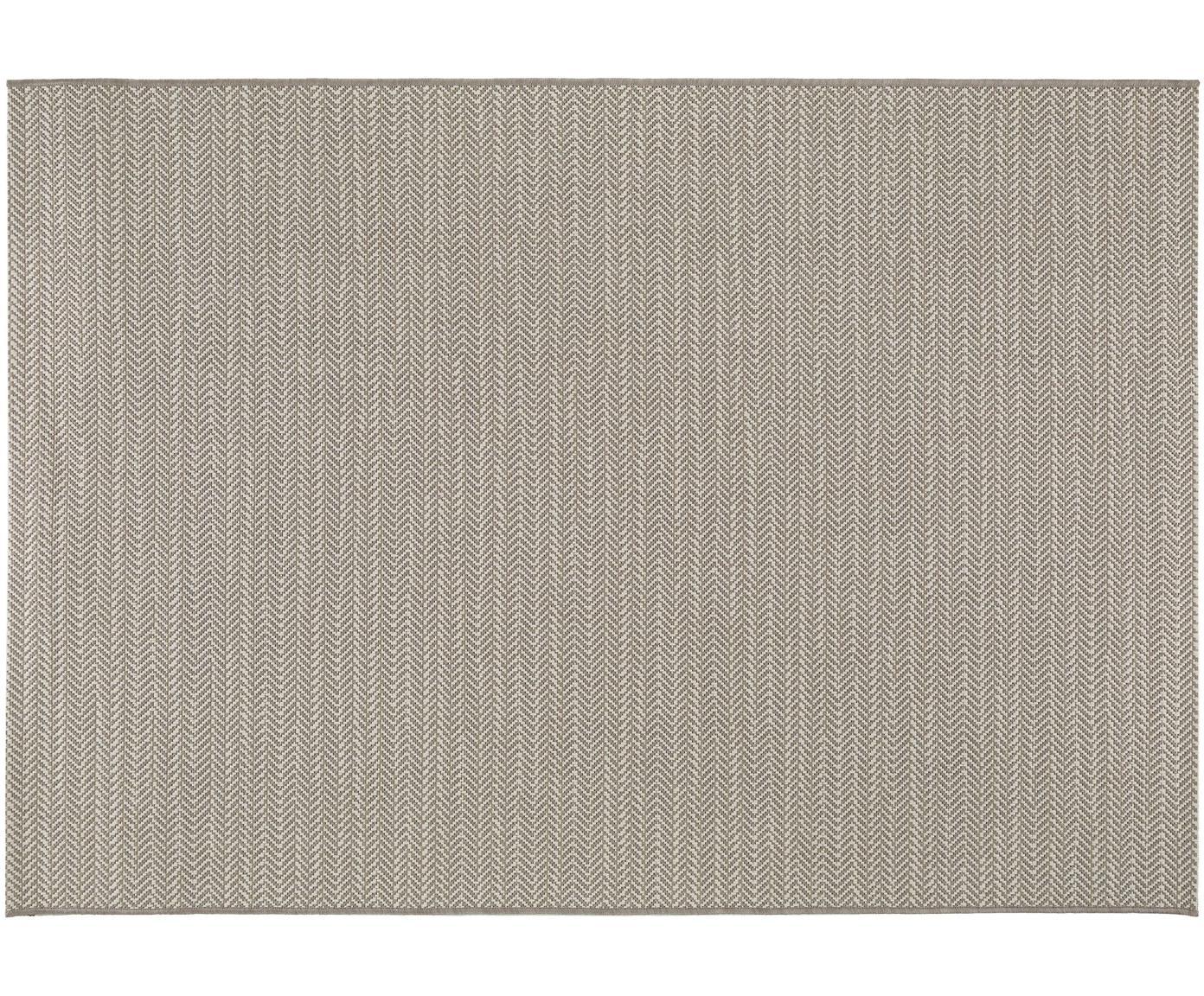 In- & outdoor vloerkleed Metro Needle, Polypropyleen, Beige, B 80 x L 150 cm (maat XS)