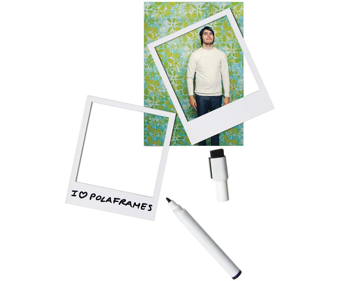 Bilderrahmen-Set Classic, 6-tlg., Vorderseite: PVC, Rückseite: Magnet, Weiß, 6 x 9 cm