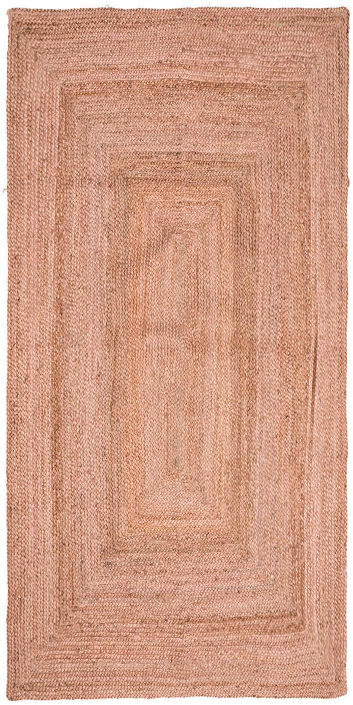 Chodnik z juty Pampas, Juta, Jasny różowy, S 60 x D 120 cm (Rozmiar XS)