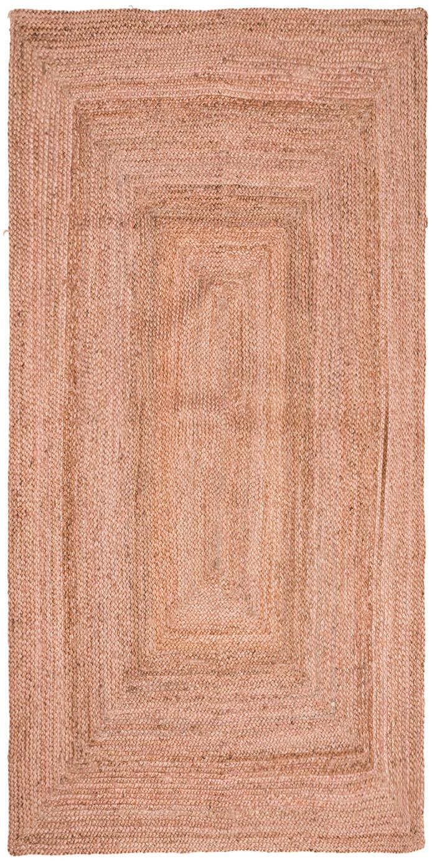 Jute-Teppich Pampas in Hellrosa, 100% Jute, Hellrosa, B 60 x L 120 cm (Größe XS)