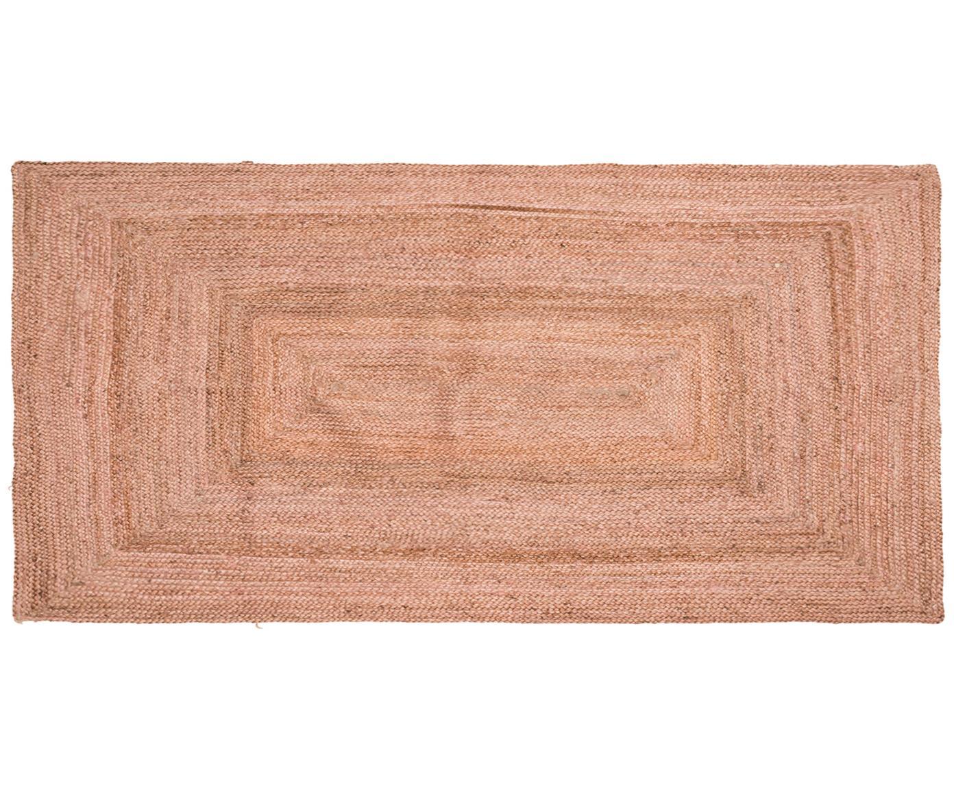 Jute-Teppich Pampas in Hellrosa, 100% Jute, Hellrosa, B 60 x L 120 cm (Grösse XS)