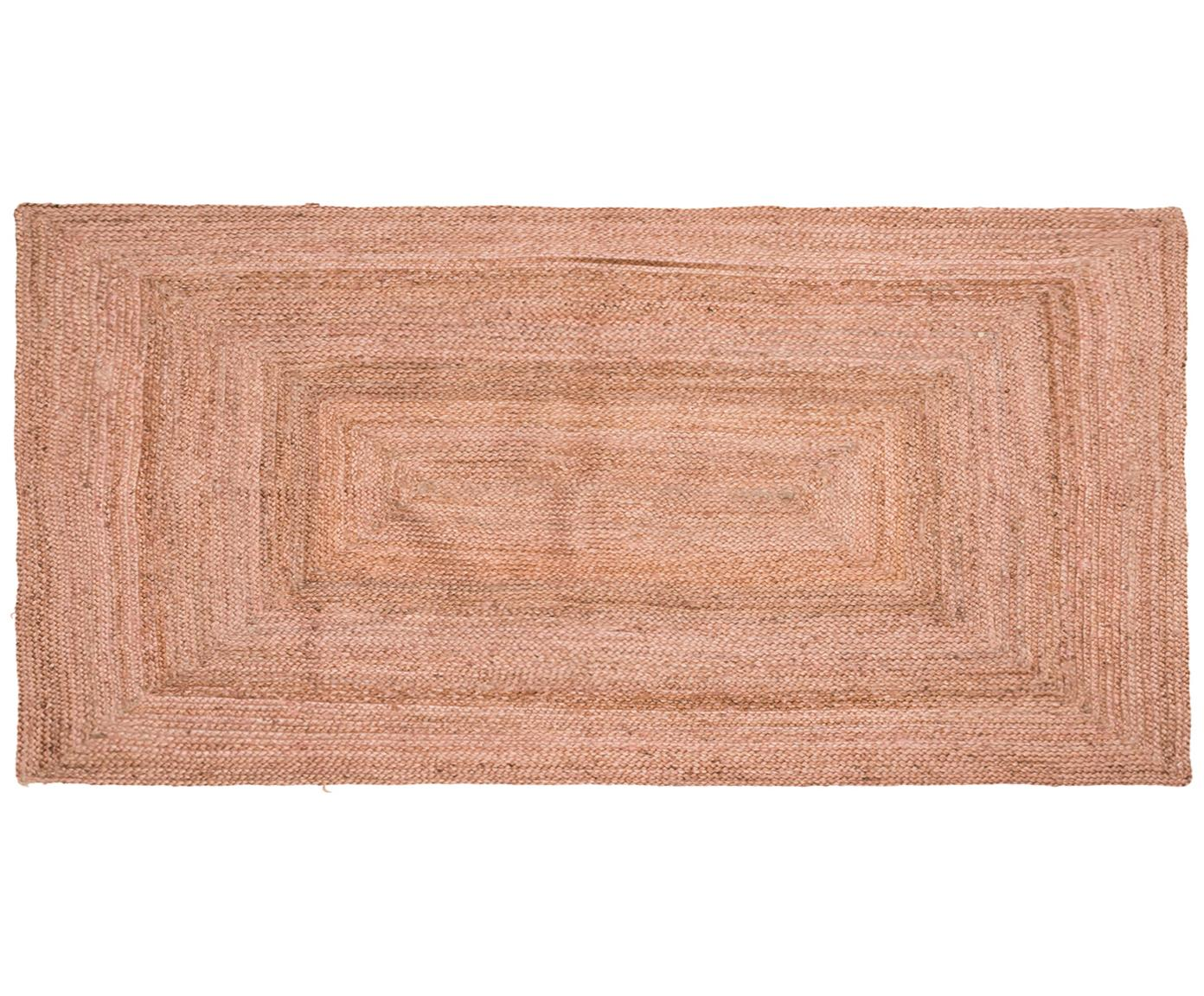 Tappeto in juta chiaro Pampas, Juta, Rosa chiaro, Larg. 60 x Lung. 120 cm (taglia XS)