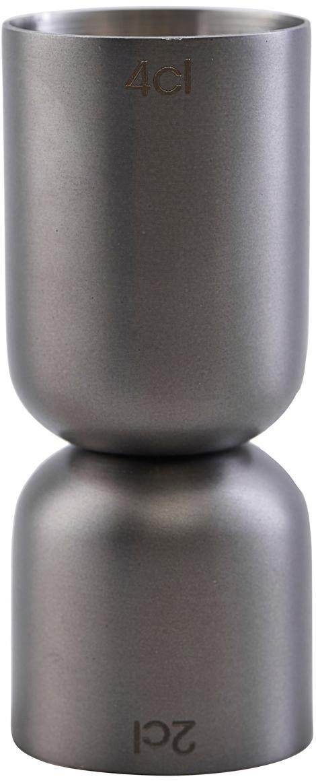 Messbecher Gunmetal, Edelstahl, beschichtet, Anthrazit, Ø 4 x H 9 cm