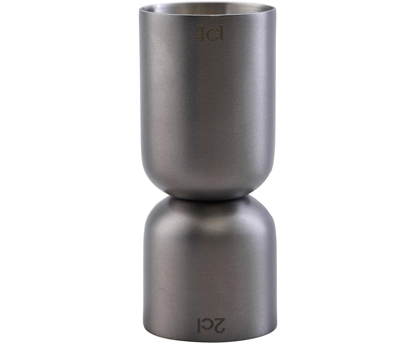 Vaso medidor Gunmetal, Acero inoxidable, recubierto, Gris antracita, Ø 4 x Al 9 cm