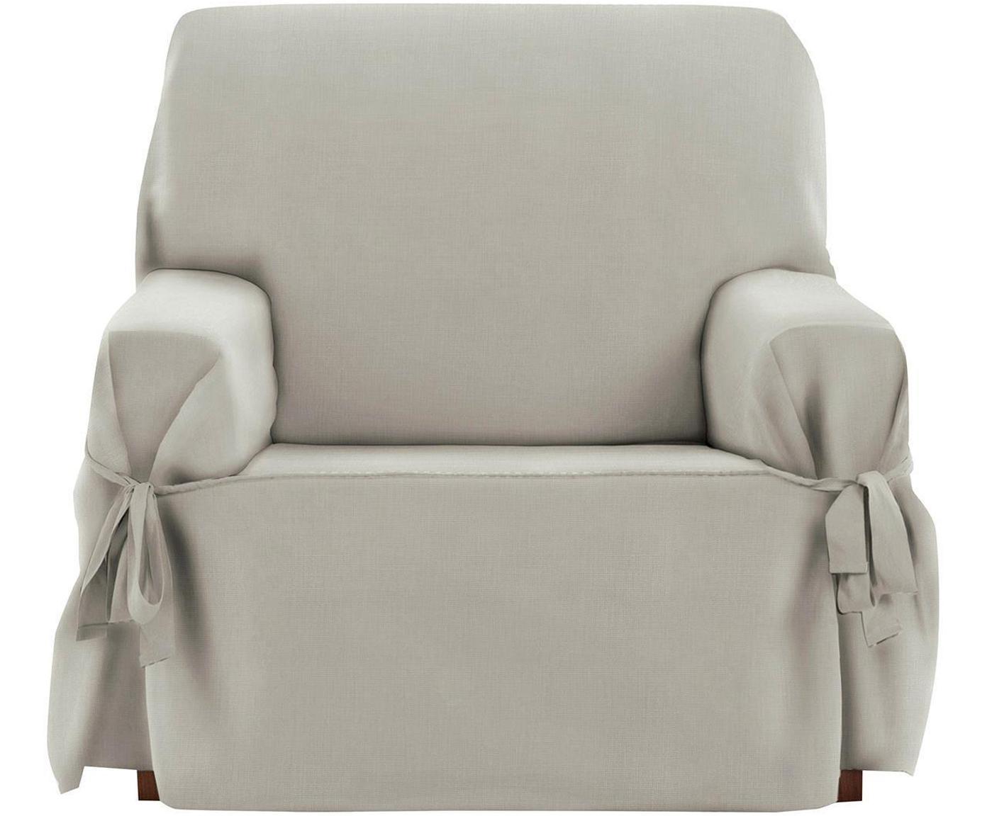 Funda de sillón Levante, 50%algodón, 50%poliéster, Gris verdoso, An 120 x Al 110 cm