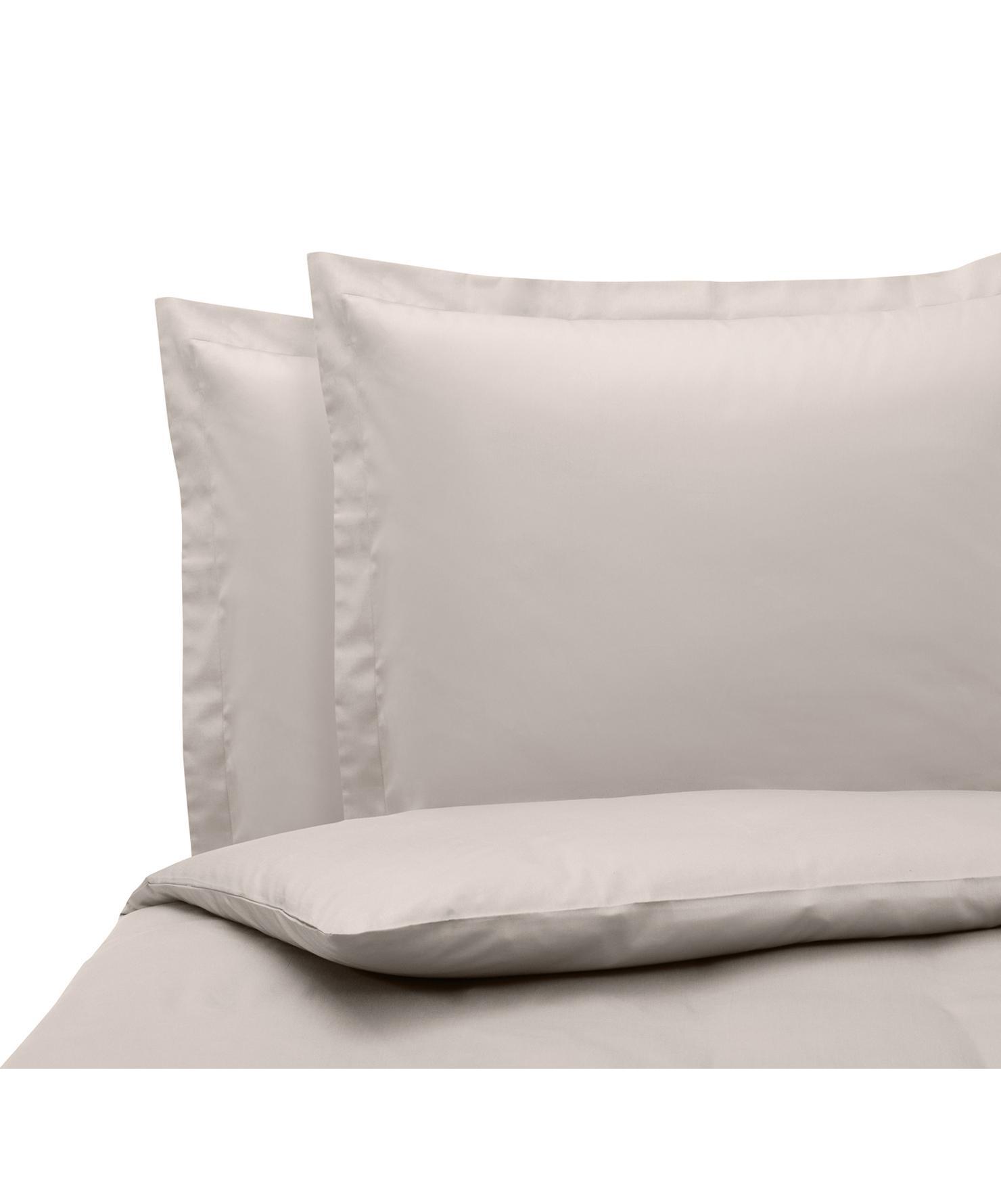 Pościel z satyny bawełnianej Premium, Taupe, 240 x 220 cm