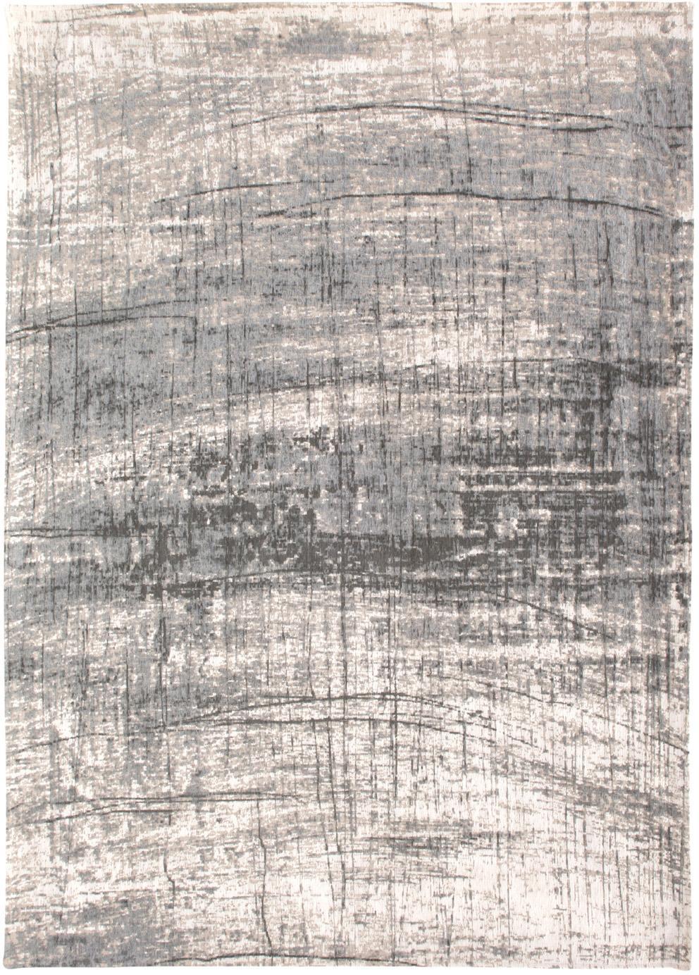 Teppich Griff, Vorderseite: 85%Baumwolle, 15%hochgl, Webart: Jacquard, Rückseite: Baumwollgemisch, latexbes, Grautöne, Weiß, B 80 x L 150 cm (Größe XS)
