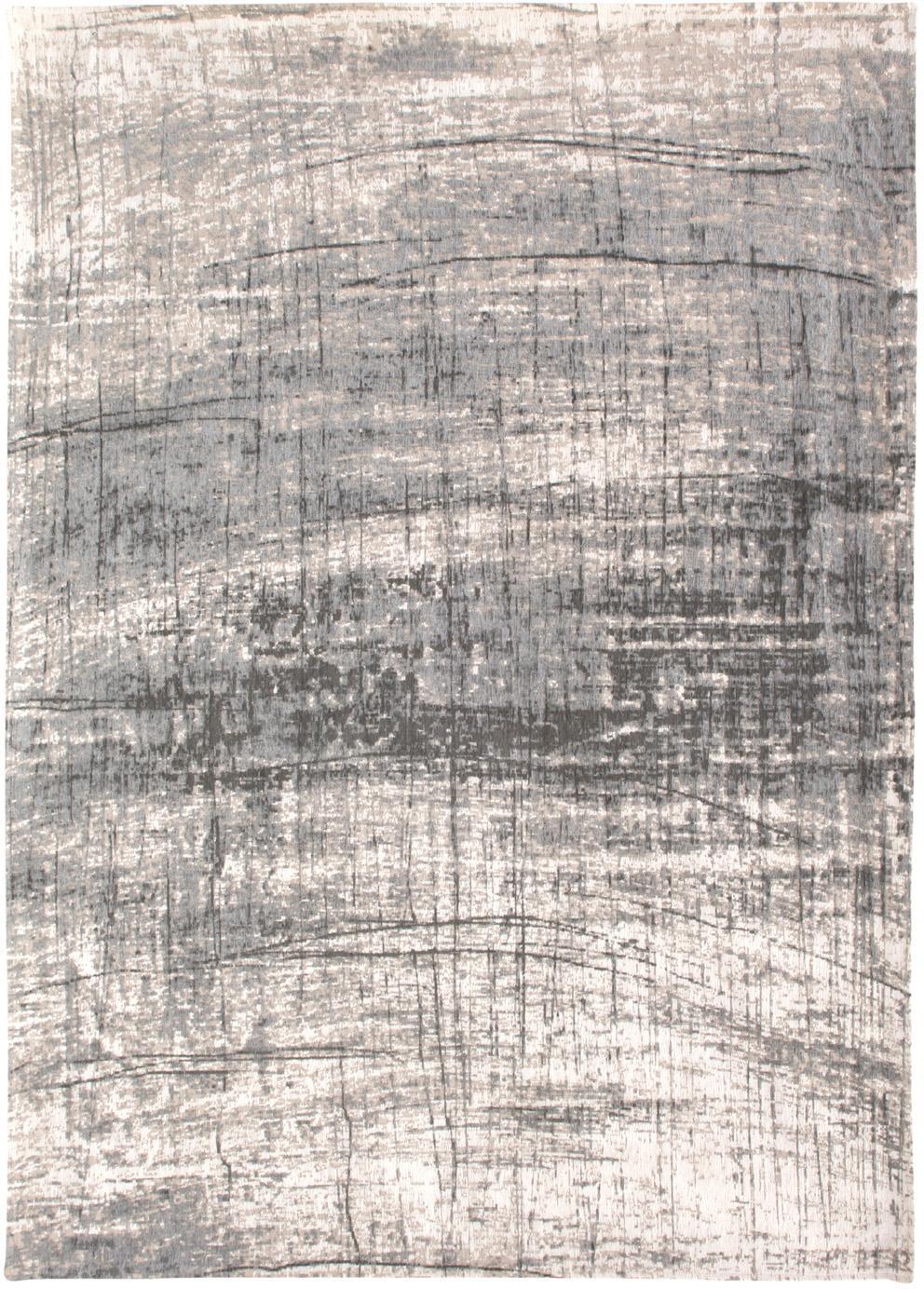 Tappeto Griff, Tessuto: Jacquard, Retro: Miscela di cotone, rivest, Tonalità grigie, bianco, Larg. 80 x Lung. 150 cm (taglia XS)