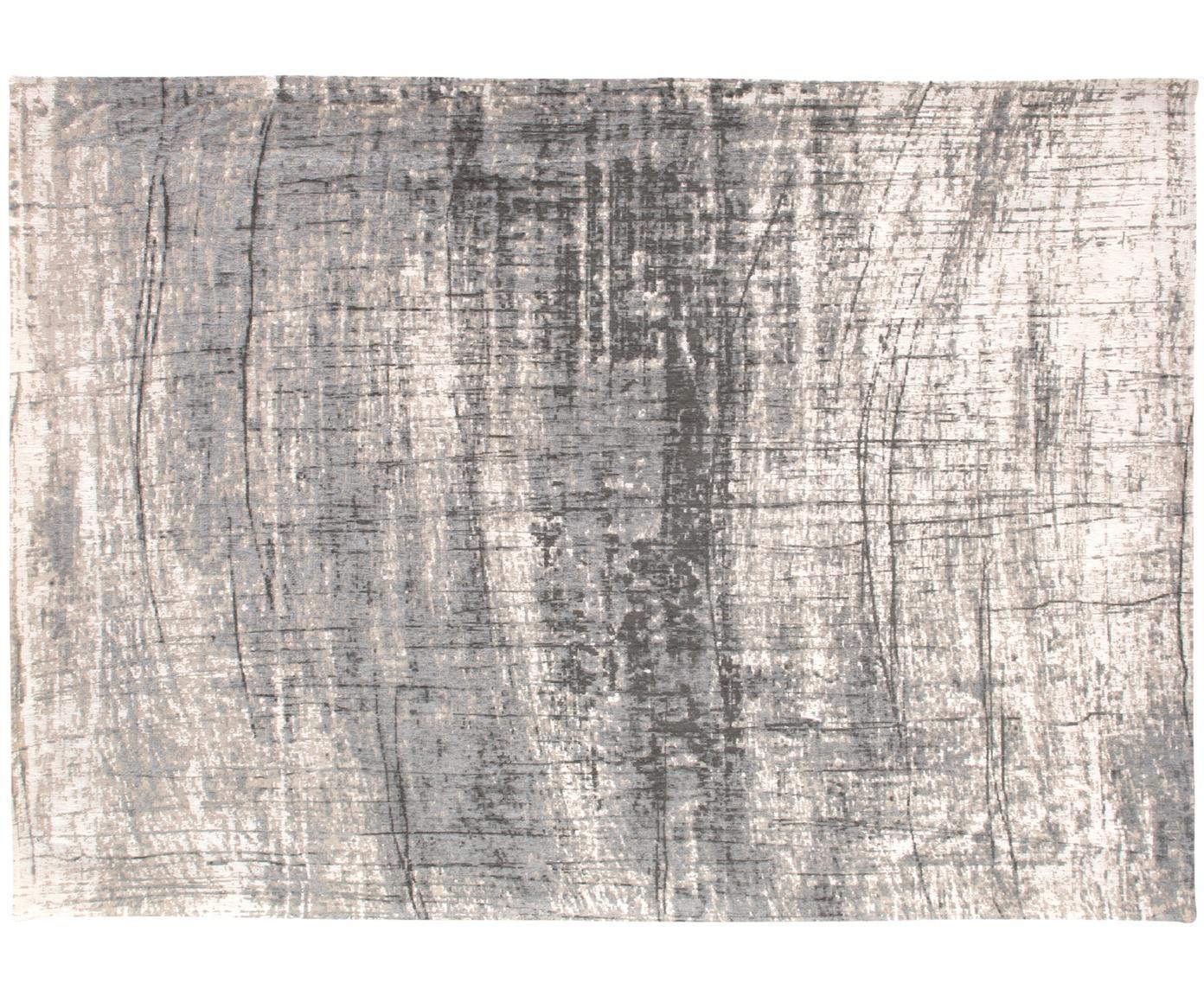 Alfombra Griff, Parte superior: 85%algodón, 15%hilos de, Reverso: mezcla de algodón, recubi, Gris, blanco, An 80 x L 150 cm (Tamaño XS)