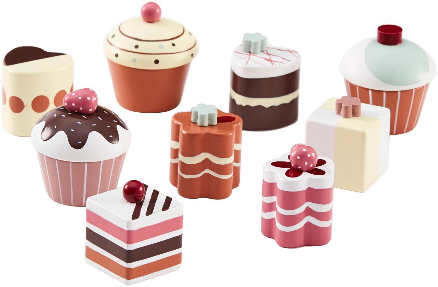 Spielzeug-Set Sweets, Schimaholz, lackiert, Mehrfarbig, Ø 5 x H 5 cm