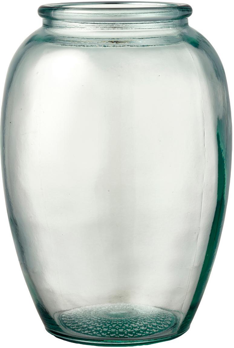 Jarrón de vidrio reciclado Kusintha, Vidrio reciclado, Verde, Ø 13 x Al 20 cm