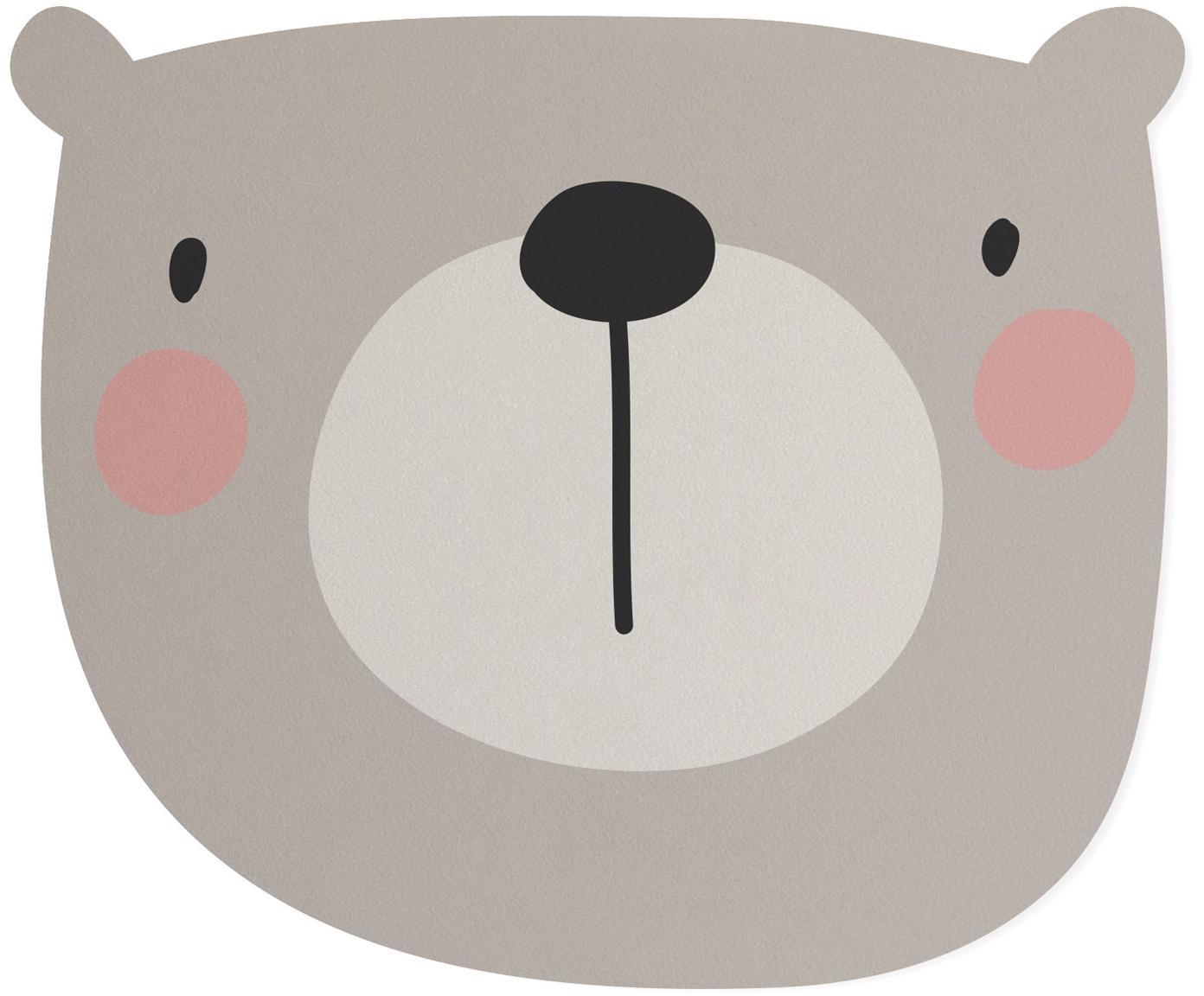 Podkładka na biurko Bear, Juta, żywica syntetyczna, Szary, beżowy, blady różowy, czarny, S 35 x D 55 cm