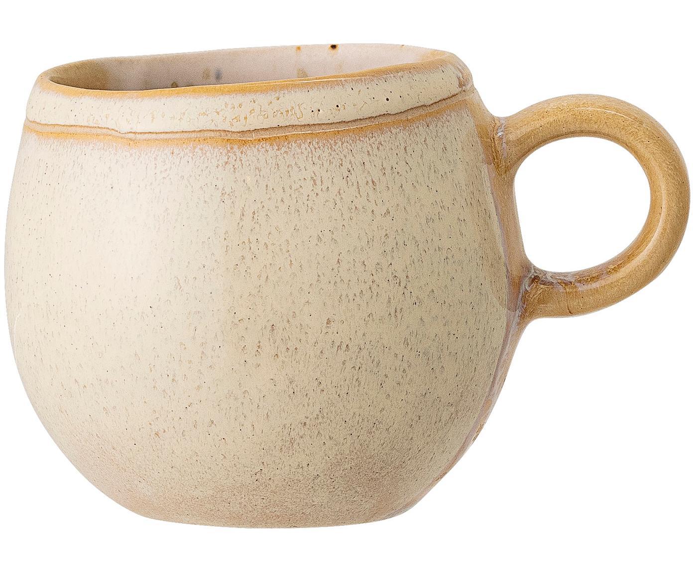 Ręcznie wykonana filiżanka do herbaty April, Kamionka, Odcienie beżowego, Ø 9 x W 8 cm