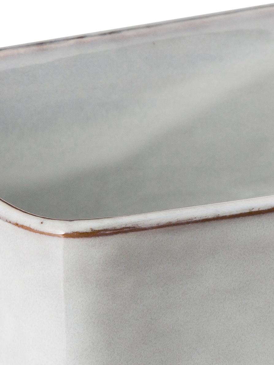 Handgemachte Butterdose Nordic Sand aus Steingut, Steingut, Sand, 15 x 6 cm