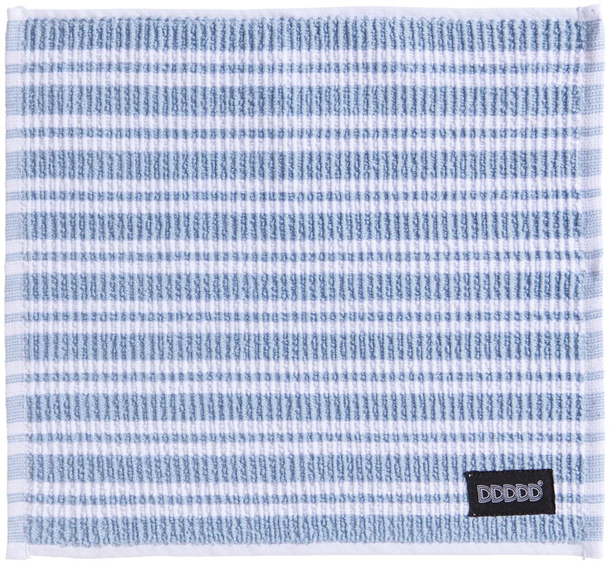 Sponsdoeken Basic Clean, 4 stuks, Katoen, Blauw, wit, 30 x 30 cm