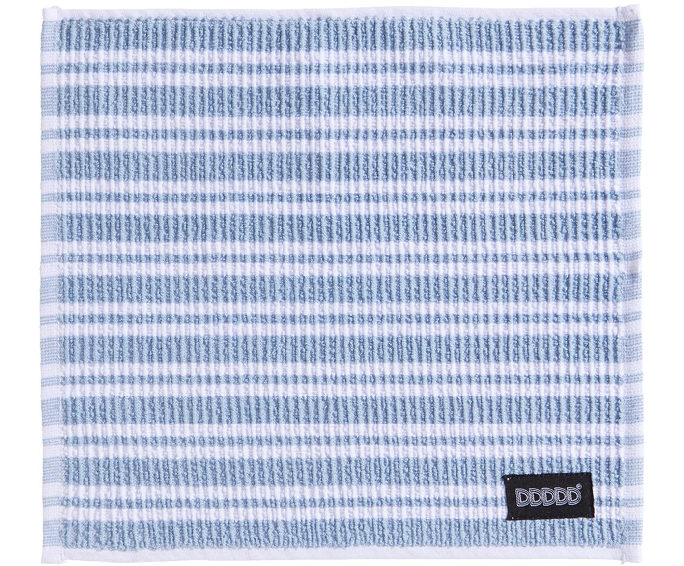 Paños de cocina Basic Clean, 4uds., Algodón, Azul, blanco, An 30 x L 30 cm