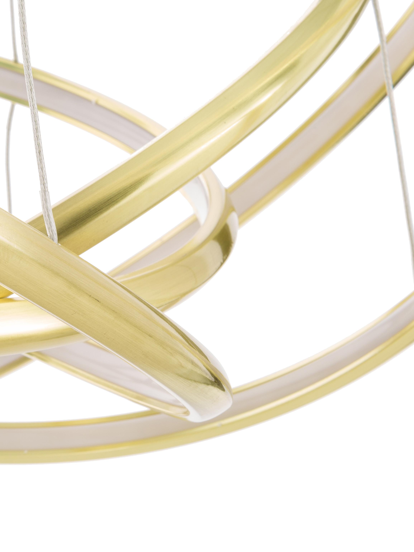 Suspension LED moderne Saturn, Couleur dorée