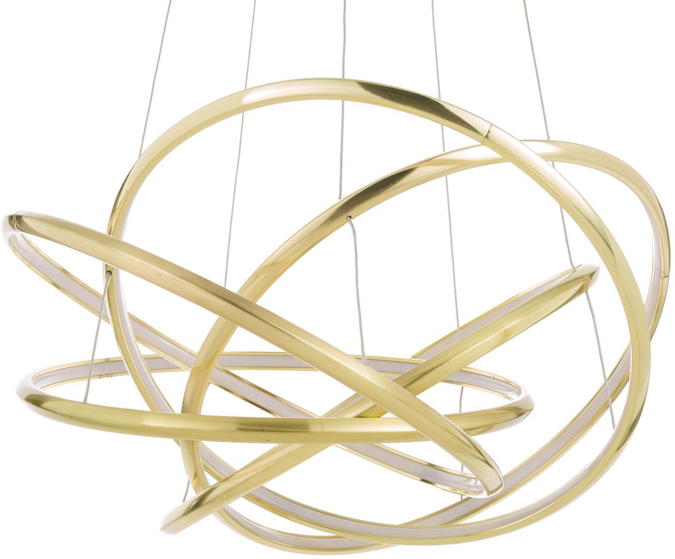 Lámpara de techo LED Saturn, estilo morderno, Pantalla: aluminio con pintura en p, Anclaje: acero, latón, Dorado, Ø 72 x Al 75 cm