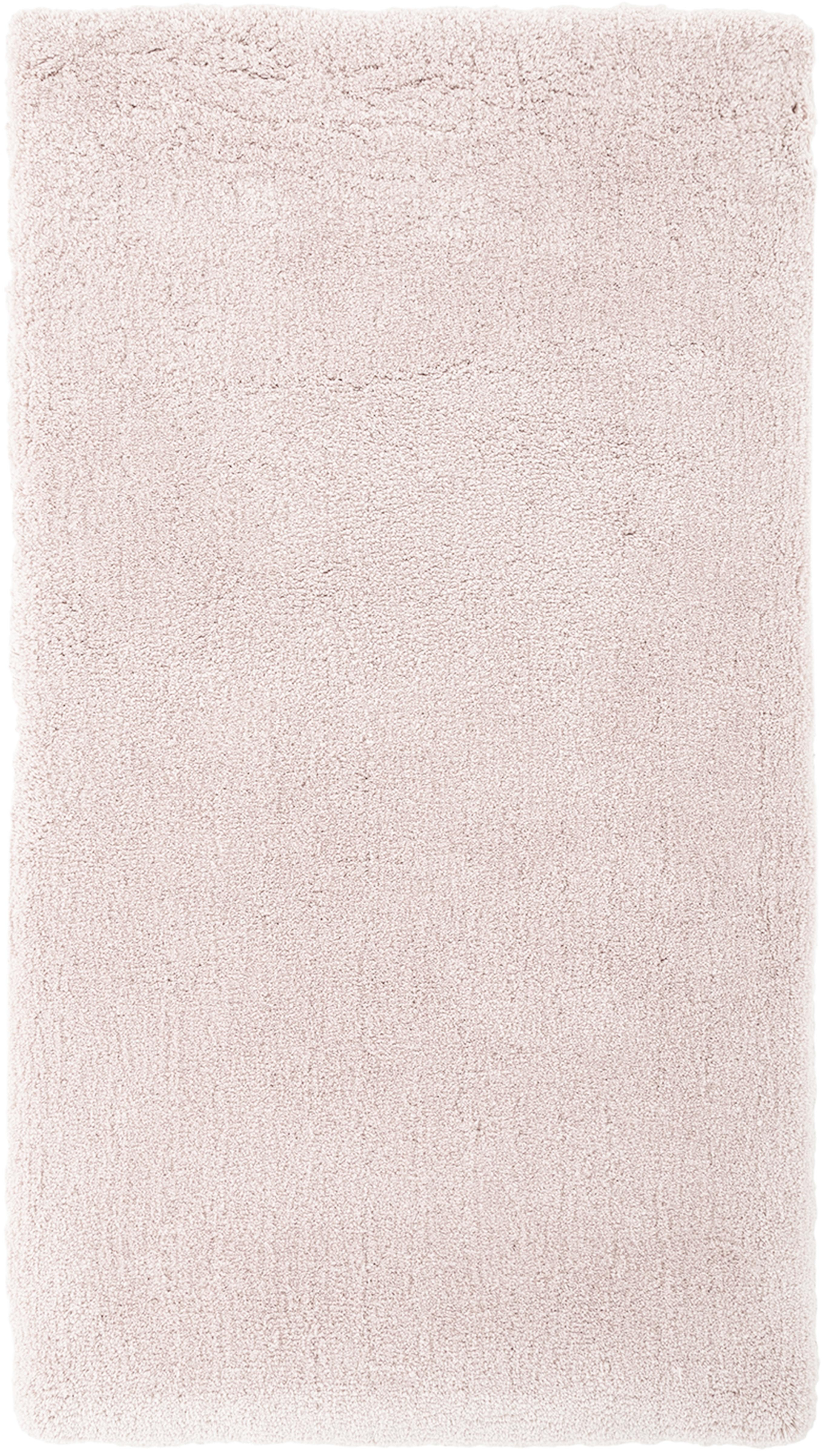Pluizig hoogpolig vloerkleed Leighton in roze, Bovenzijde: 100% polyester (microveze, Onderzijde: 70% polyester, 30% katoen, Roze, B 80 x L 150 cm (maat XS)