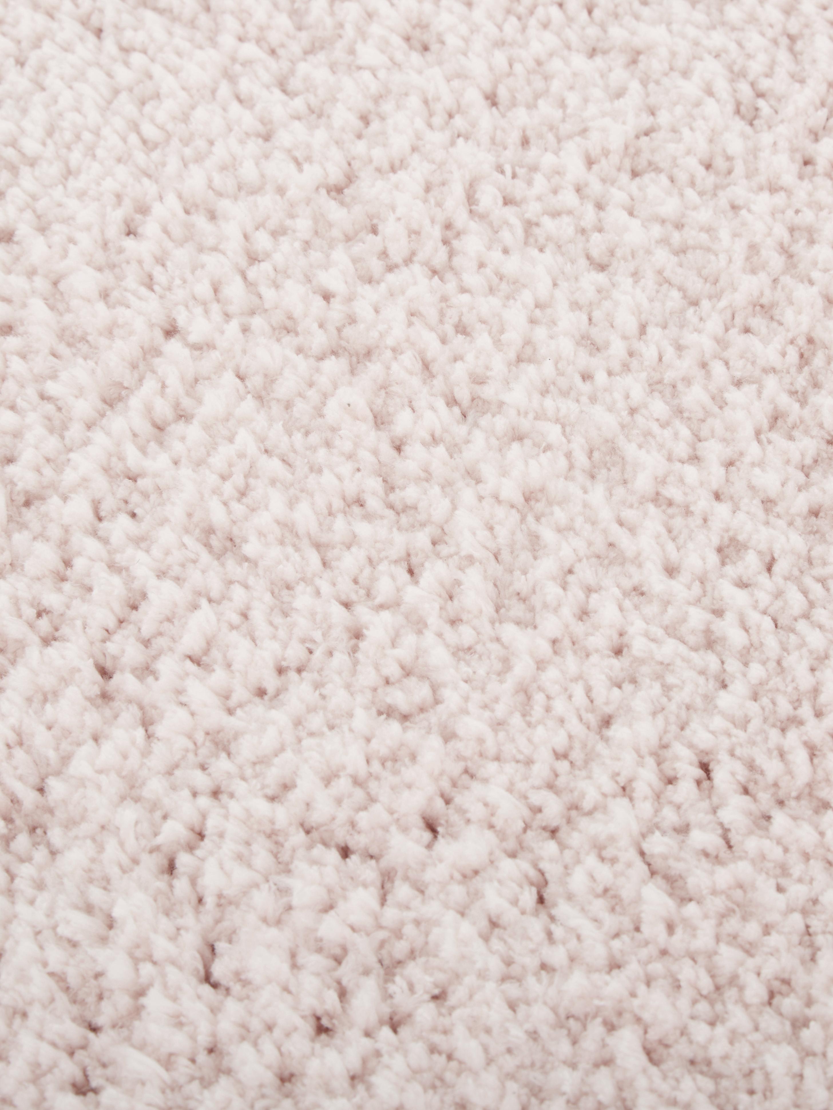 Puszysty dywan z wysokim stosem Leighton, Blady różowy, S 80 x D 150 cm (Rozmiar XS)
