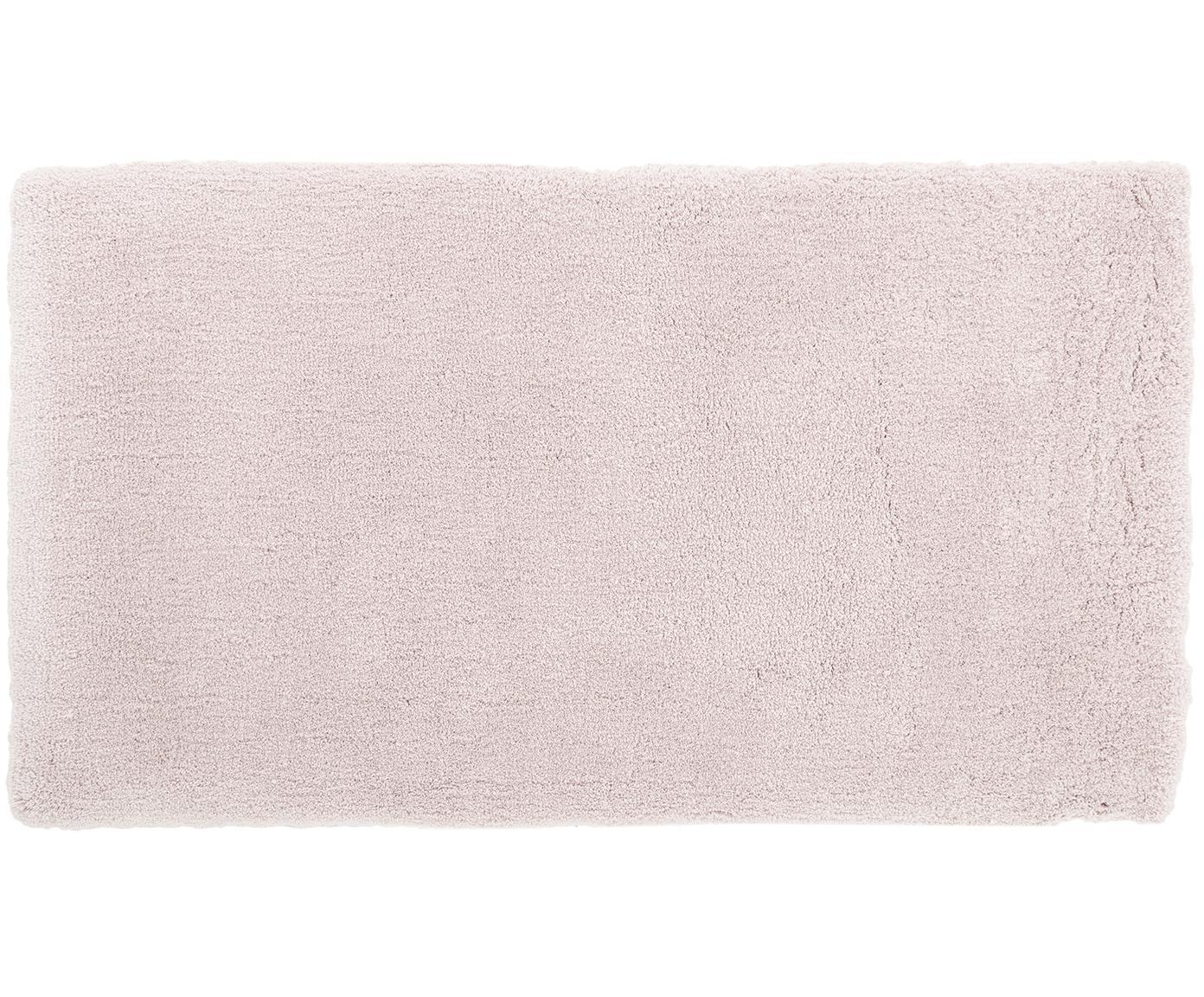 Pluizig hoogpolig vloerkleed Leighton in roze, Bovenzijde: 100% polyester (microveze, Onderzijde: 100% polyester, Roze, 80 x 150 cm
