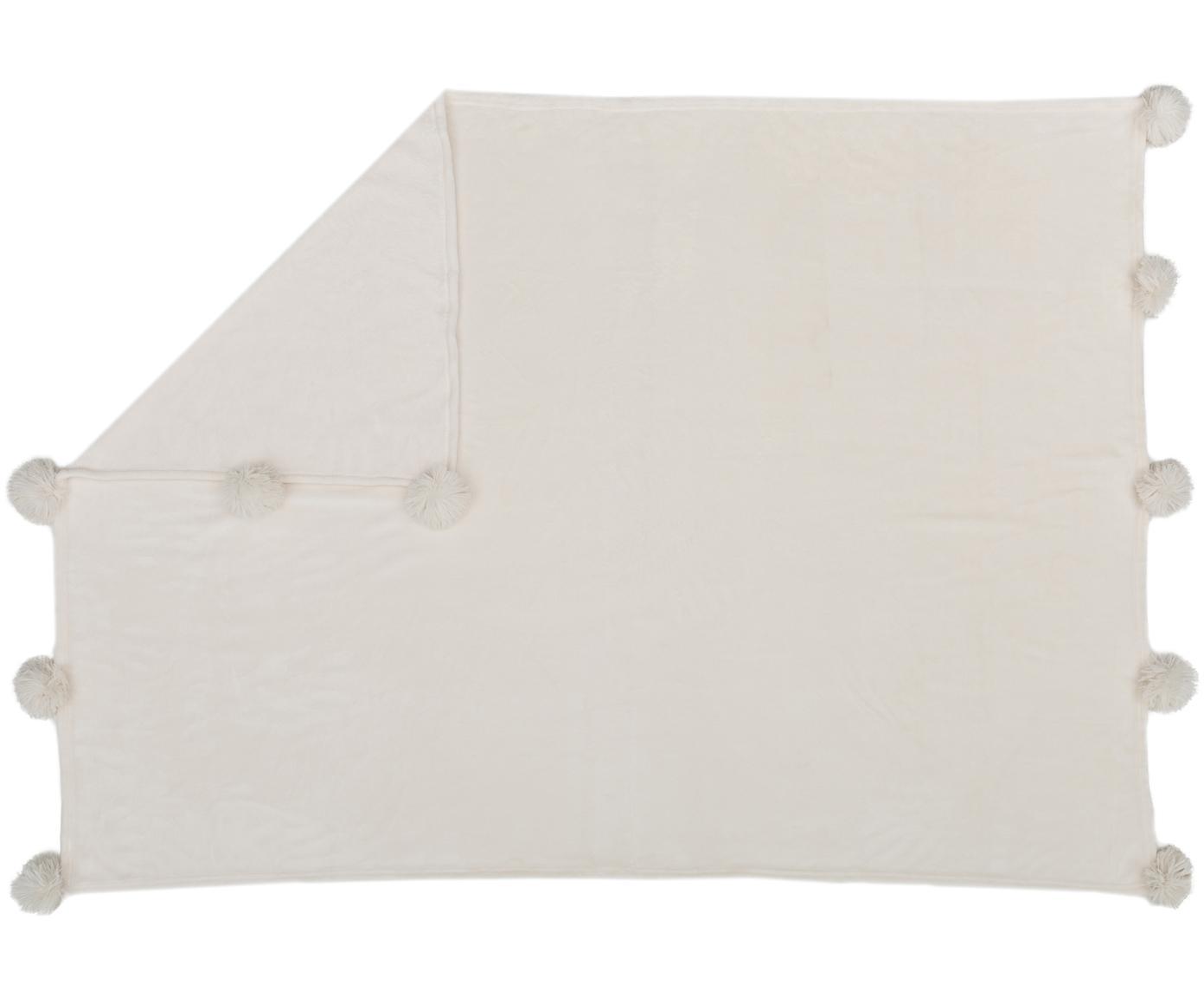 Pled z polaru Bomla, Poliester, Kremowy, S 130 x D 170 cm