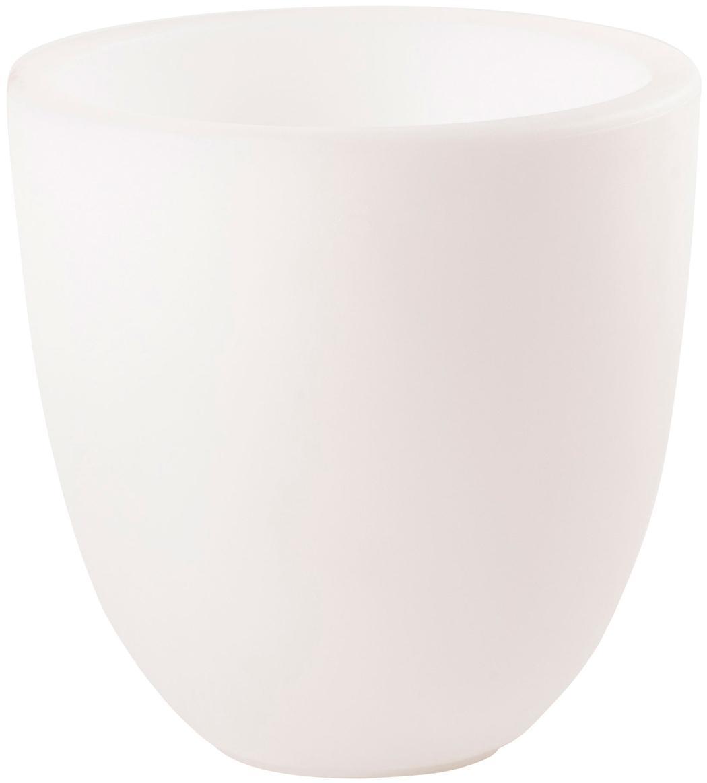 Außenleuchte Shining Curvy Pot, Kunststoff (Polyethylen), Weiß, Ø 39 x H 39 cm