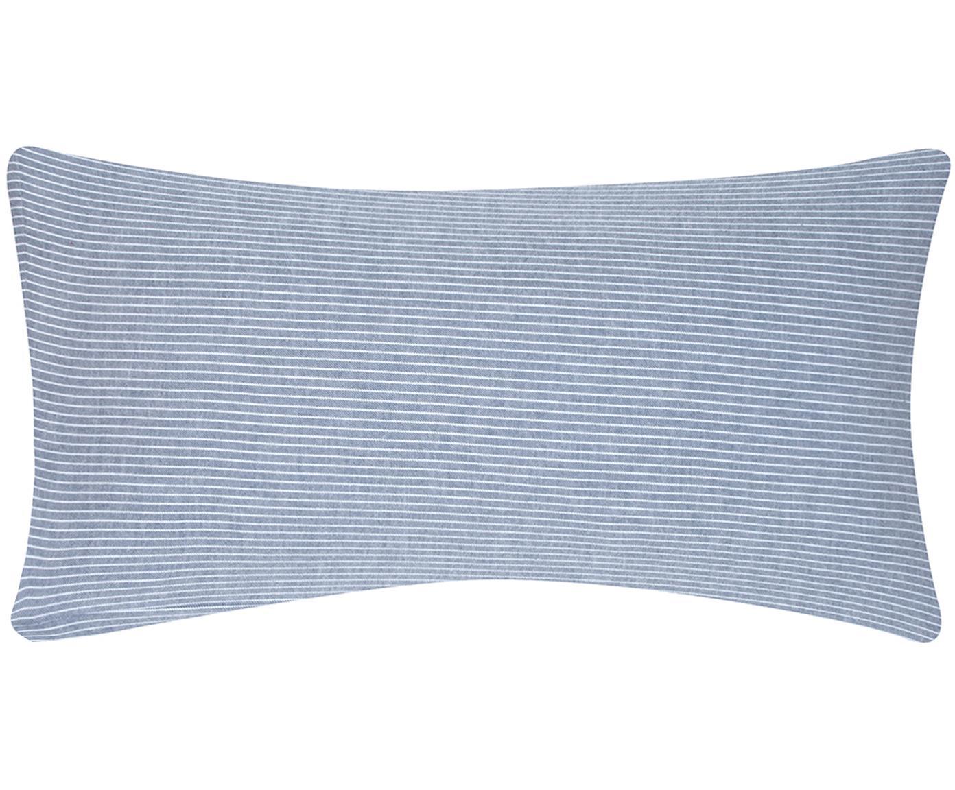 Flanell-Kissenbezüge Rae, fein gestreift, 2 Stück, Webart: Flanell Flanell ist ein s, Blau, Weiß, 40 x 80 cm