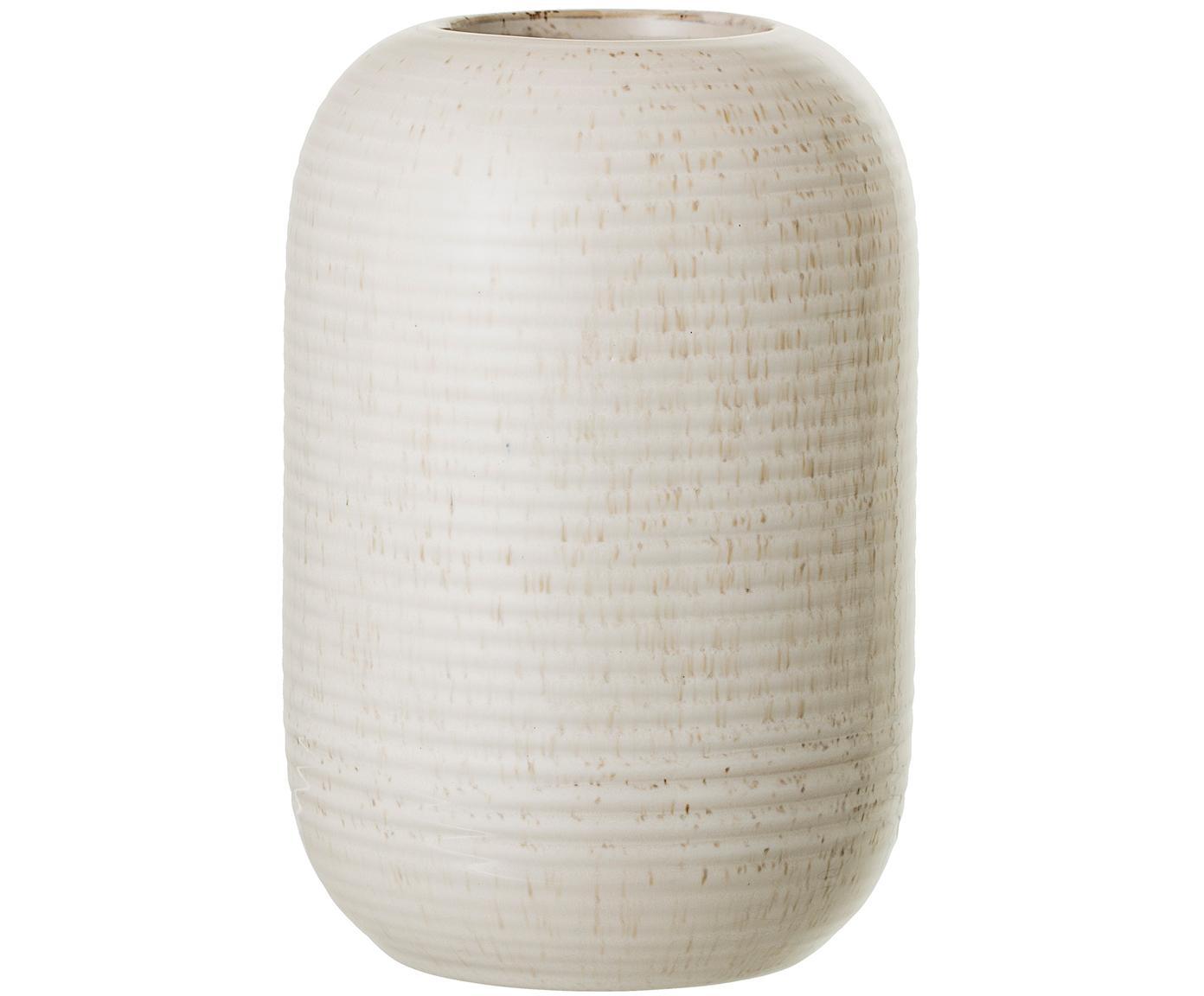 Vaso in terracotta beige Aya, Gres, Beige, Ø 11 x Alt. 17 cm