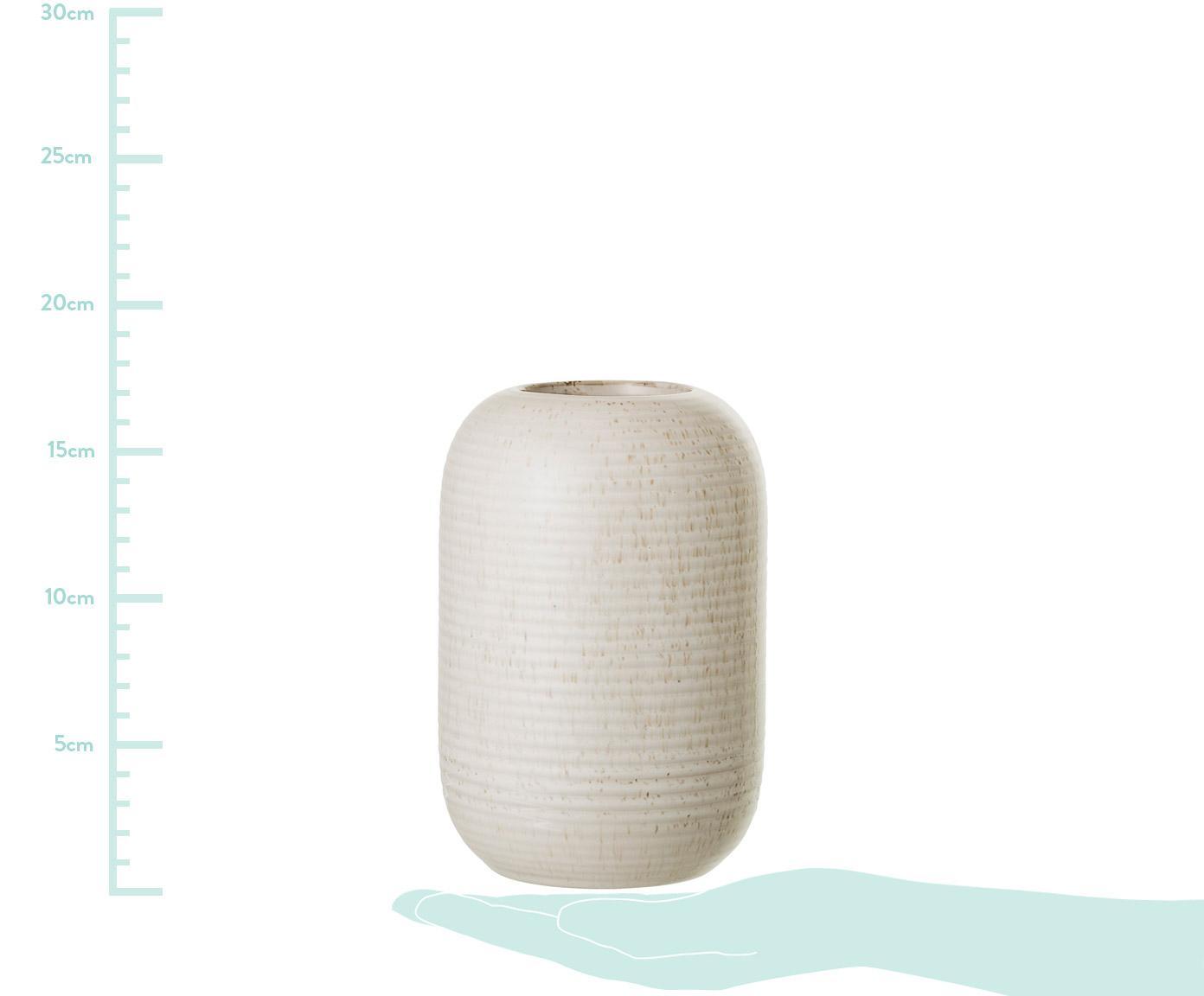 Jarrón de gres Aya, Gres, Beige, Ø 11 x Al 17 cm