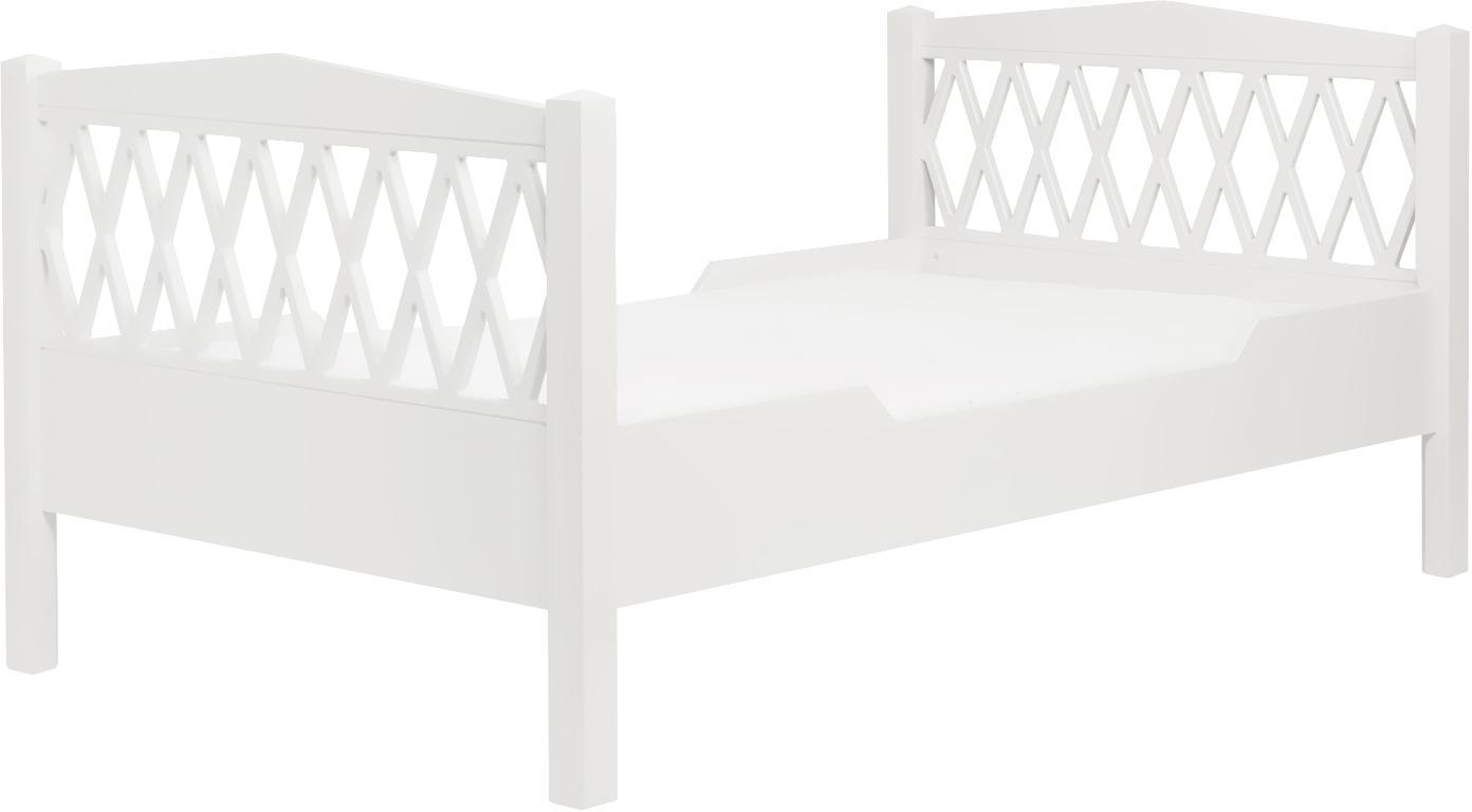 Kinderbett Harlequin, Holz, lackiert, Weiss, 100 x 170 cm