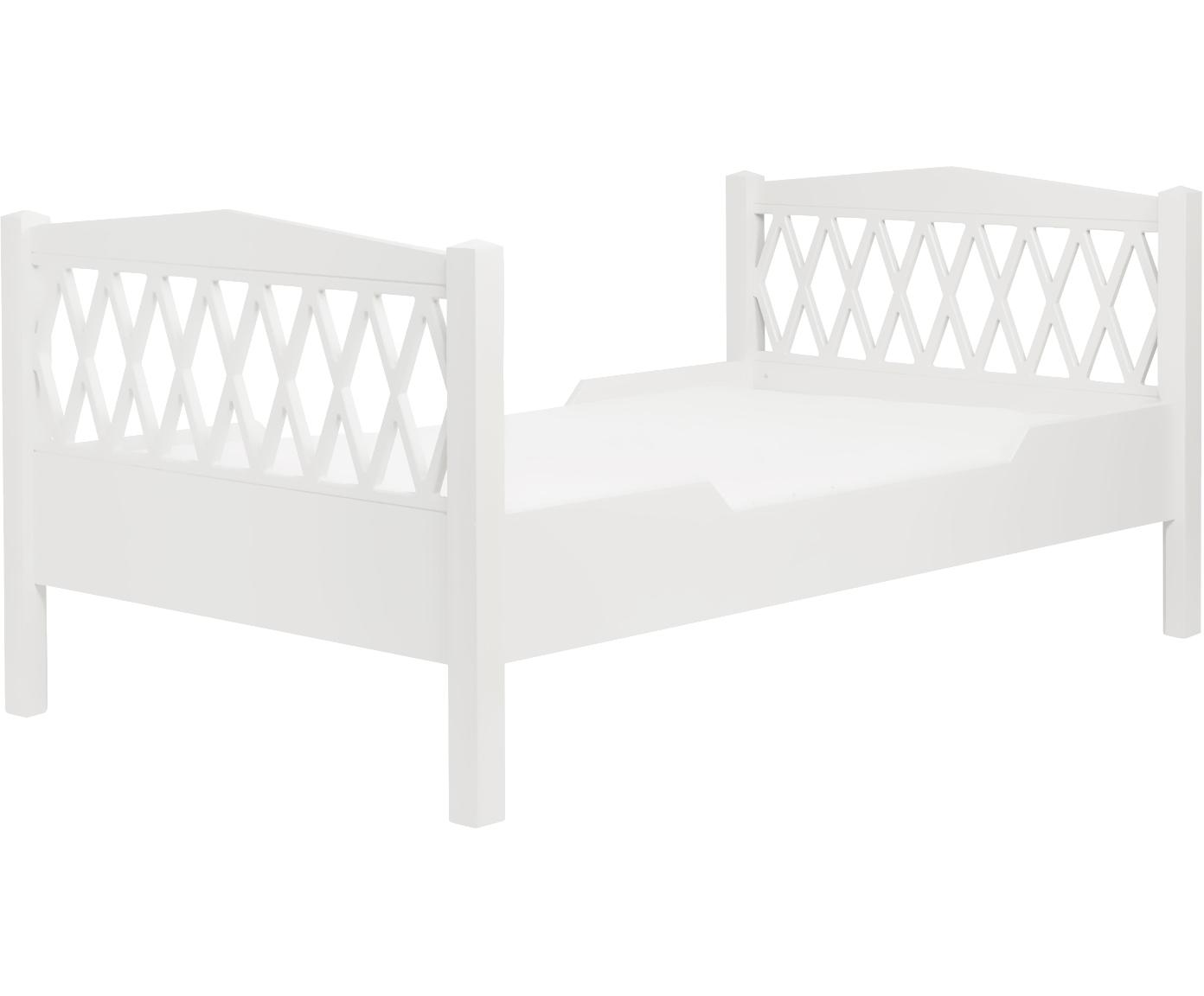 Kinderbett Harlequin, Holz, lackiert, Weiß, 100 x 170 cm