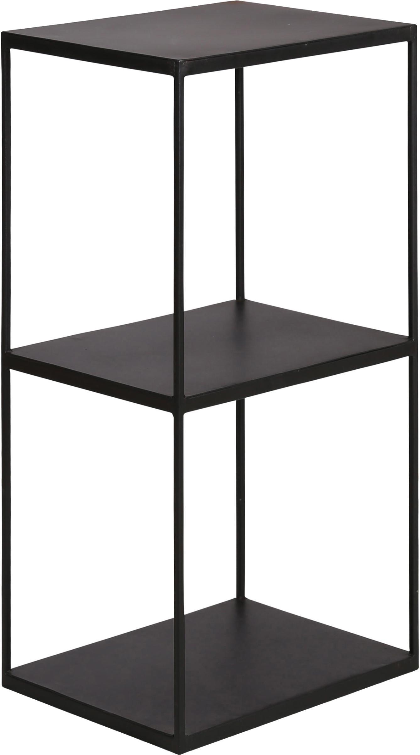 Estantería de metal Expo, Metal recubierto, Negro, An 43 x Al 86 cm