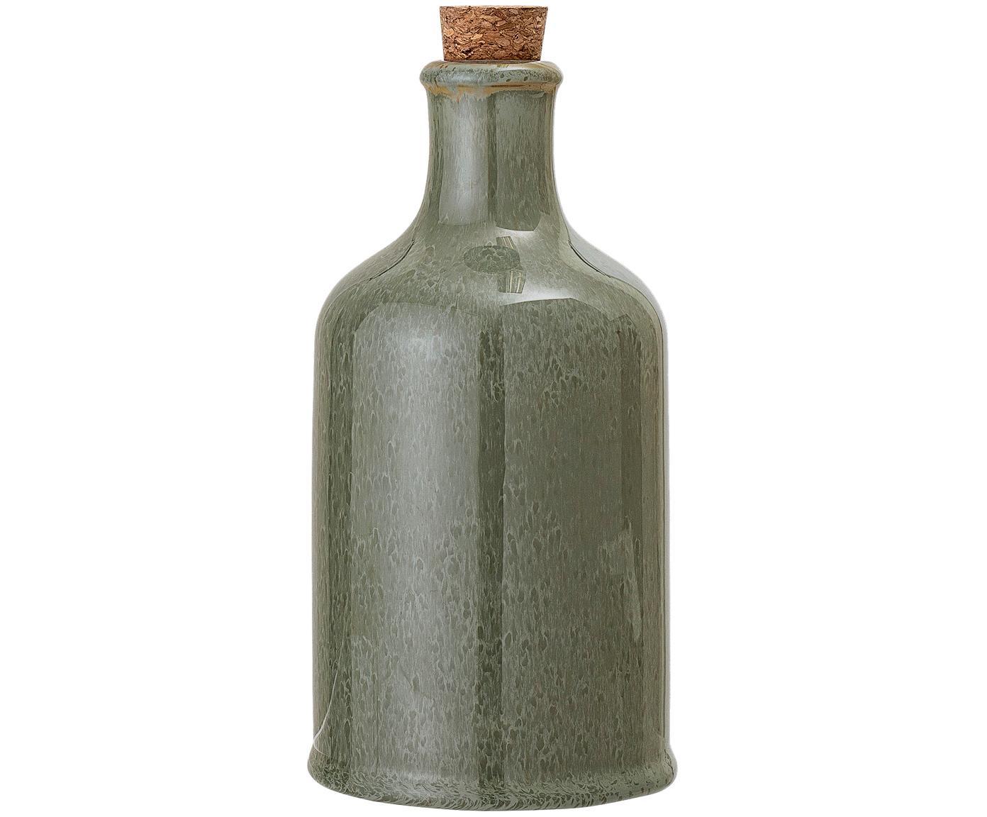 Olie- en azijnkaraf Pixie, Fles: keramiek, Groentinten, Ø 10 x H 19 cm