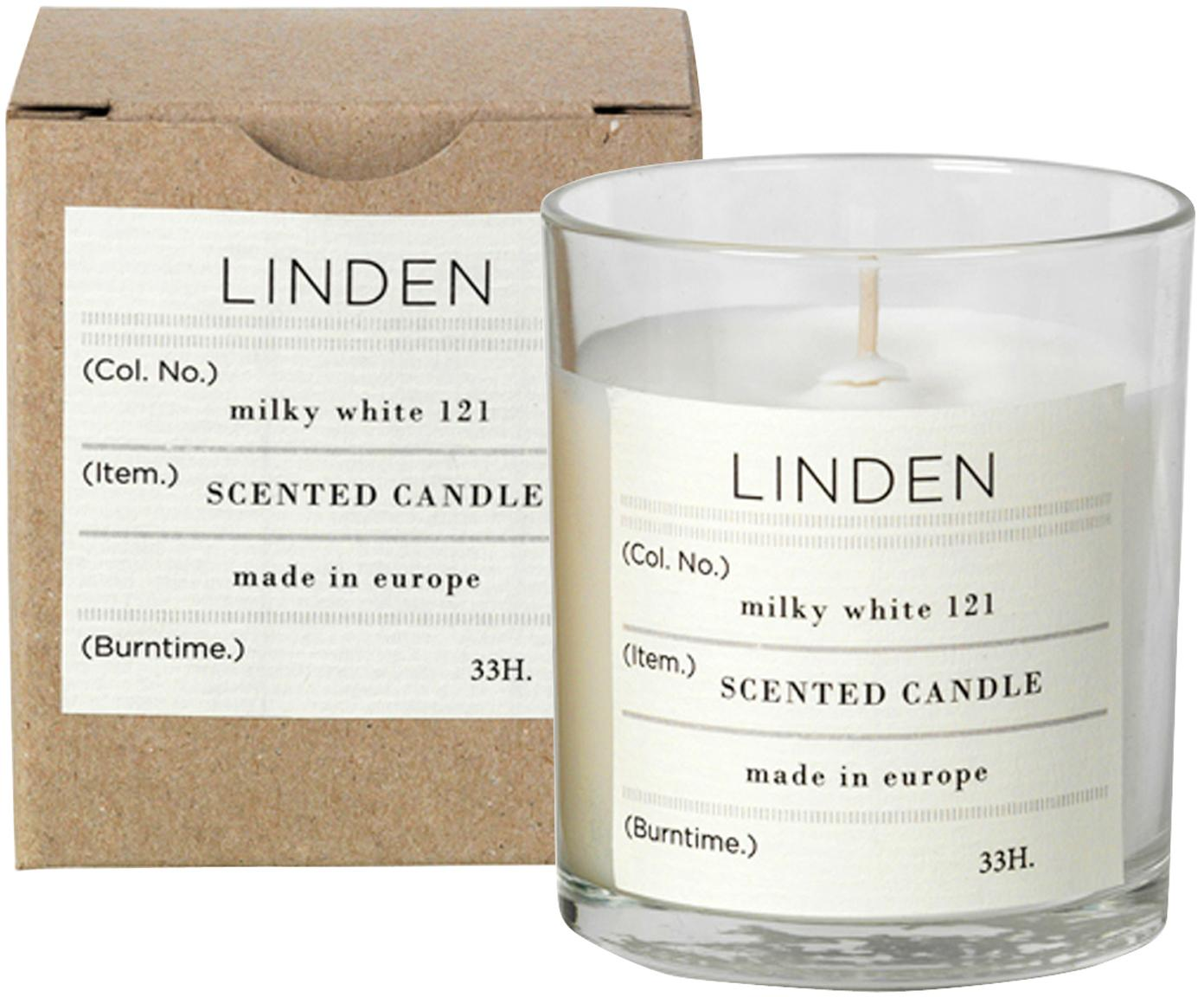 Świeca zapachowa Linden (lipa), Naturalny wosk sojowy, szkło, Transparentny, W 8 cm